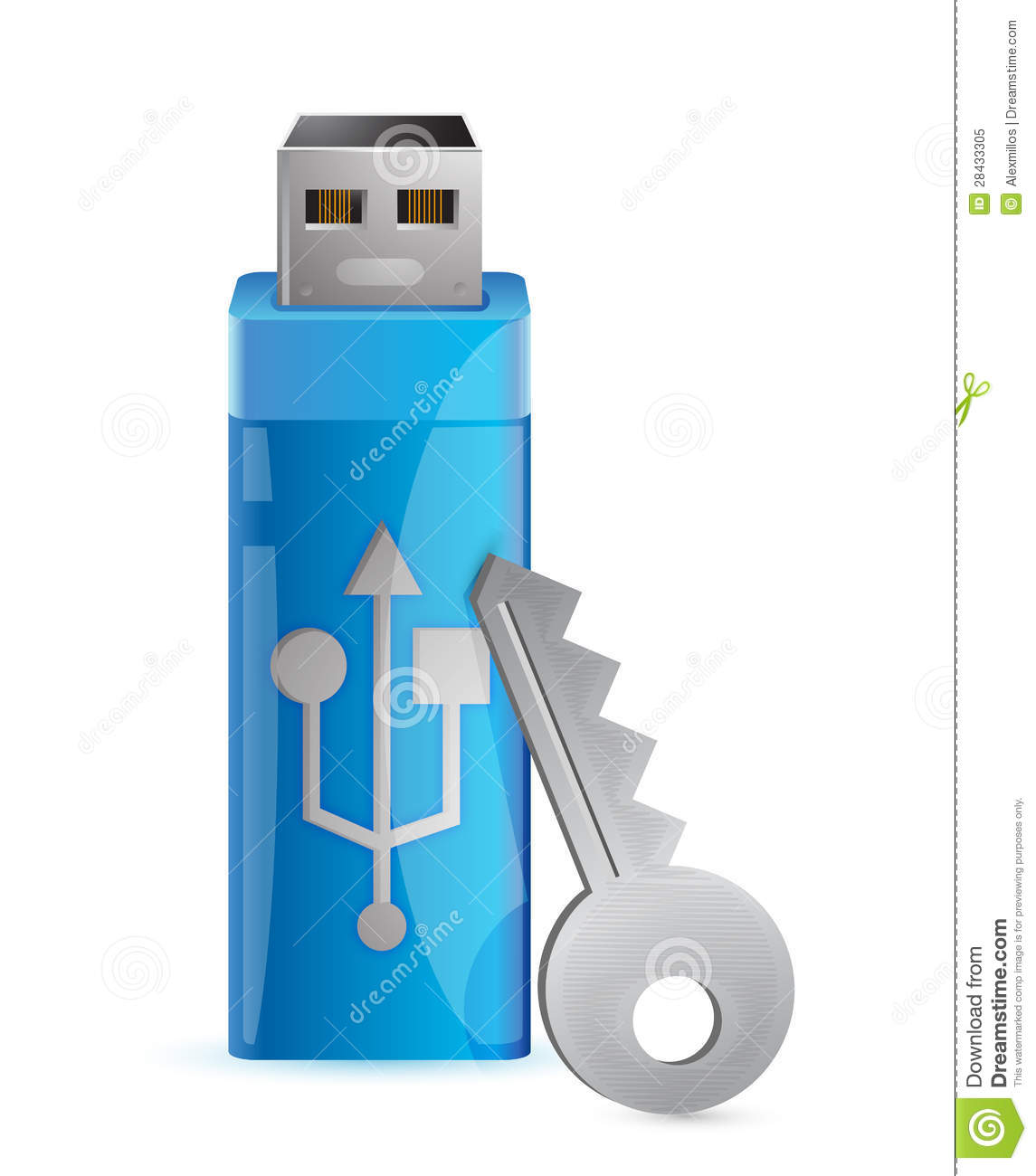 Information Protection Usb Flash Memory And Key Royalty