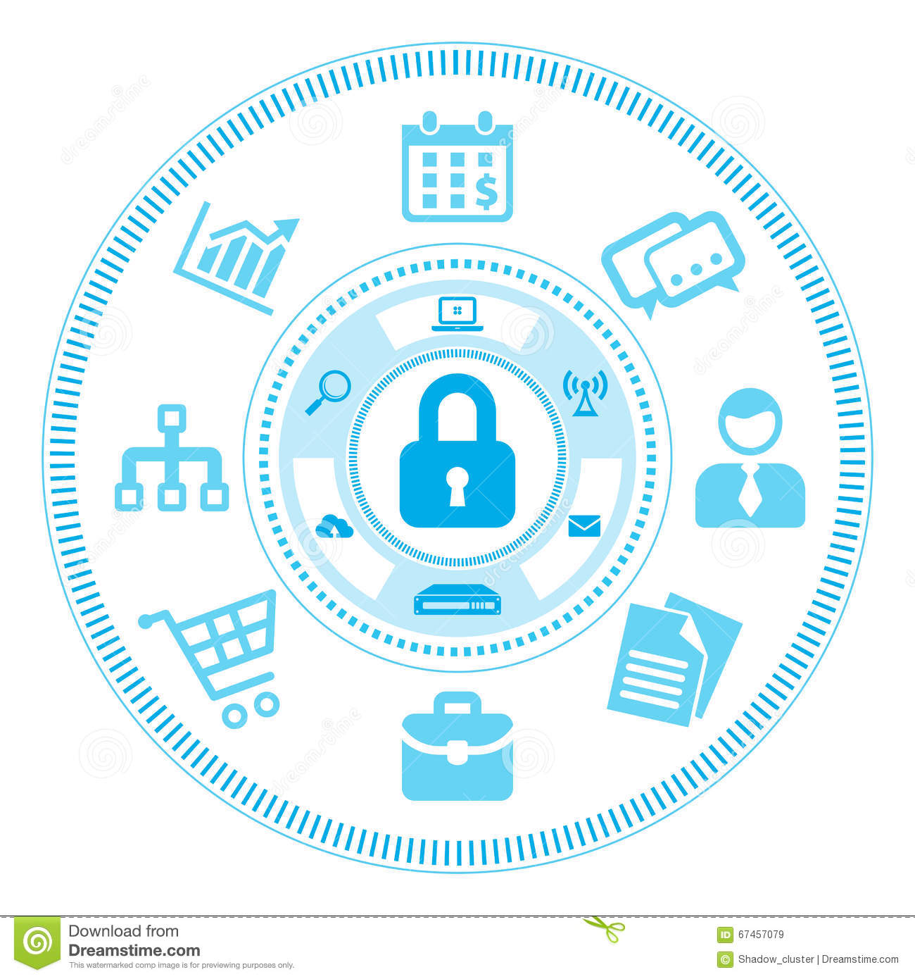 Information Security Concept Stock Vector - Illustration ...