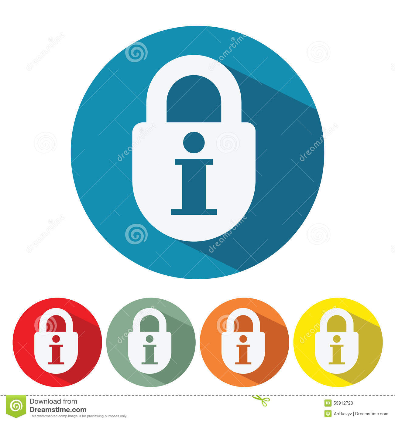 Information Security Web Icon Flat Design Stock Vector - Image ...