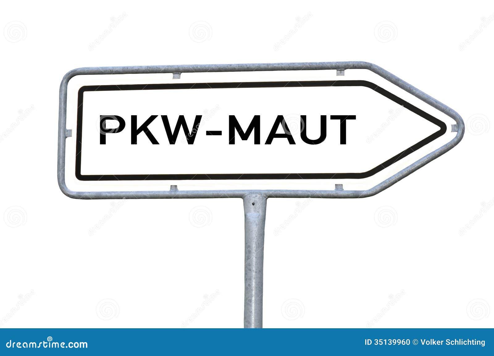 information sign car toll pkw maut stock photo image 35139960. Black Bedroom Furniture Sets. Home Design Ideas