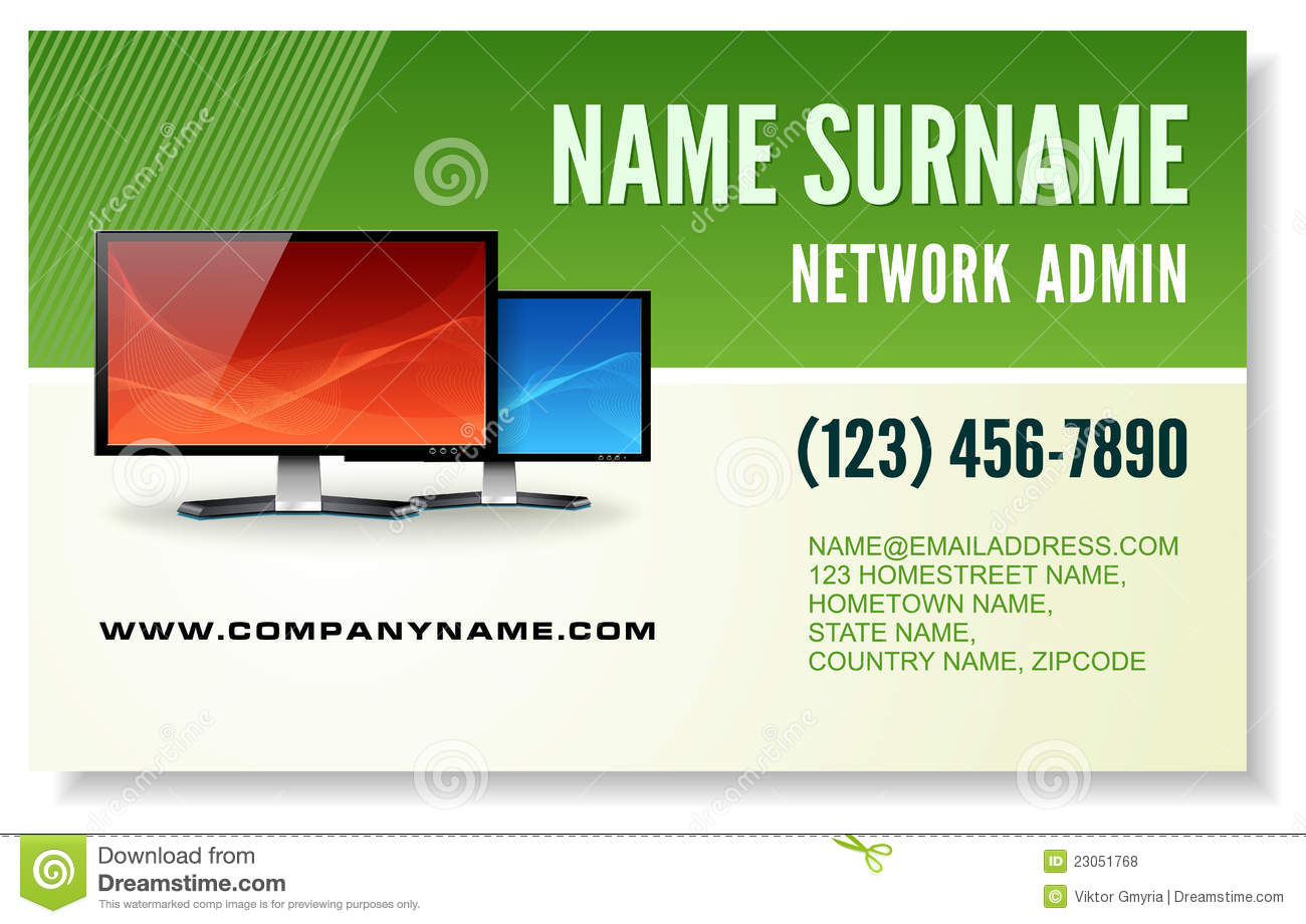 Information Technology Business Card Royalty Free Stock Photos ...