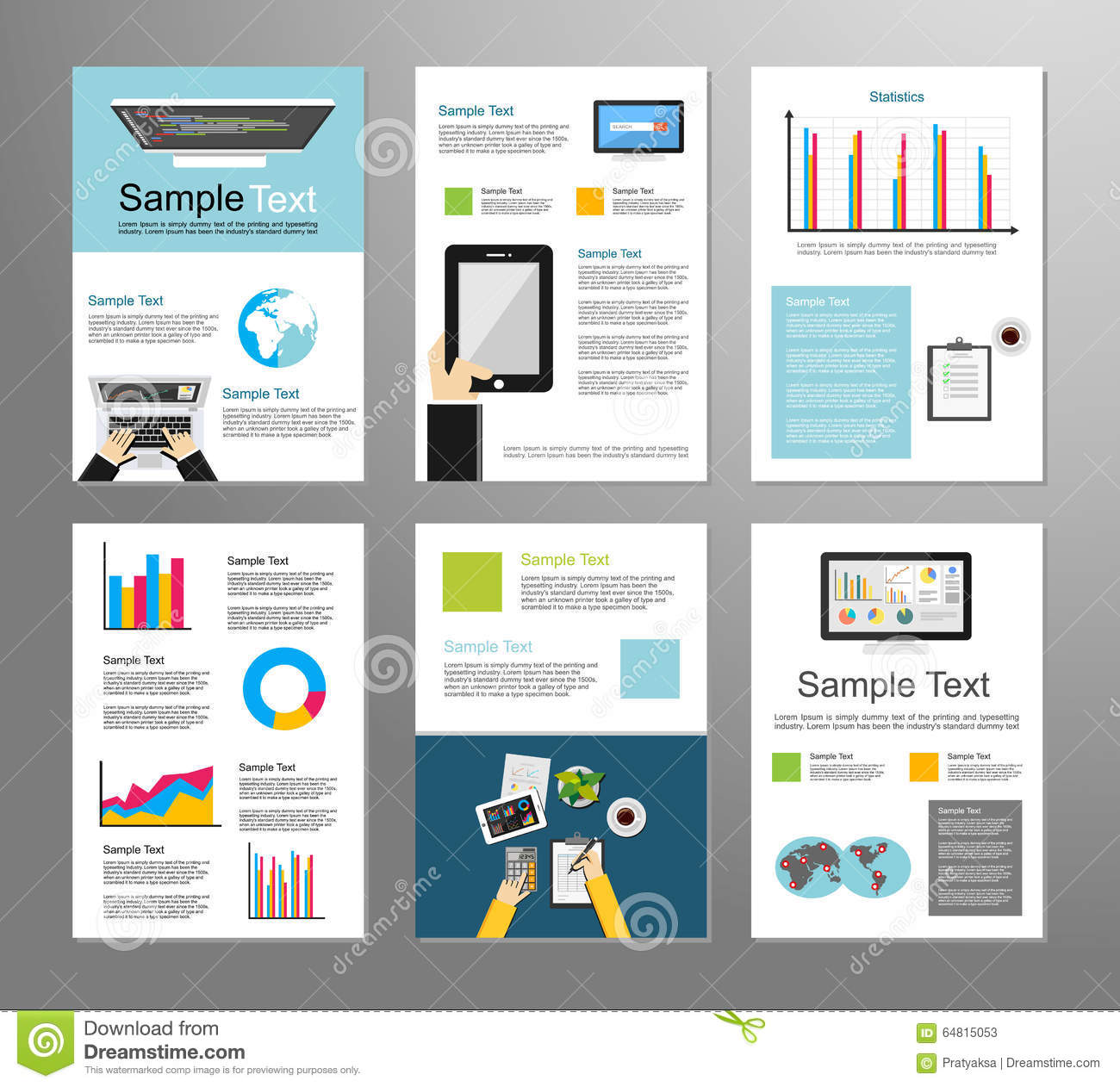 Information Technology Or Business Infographic Elements. IT ...