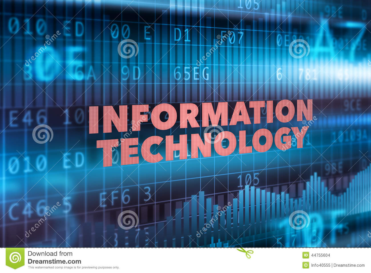Information technology concept background