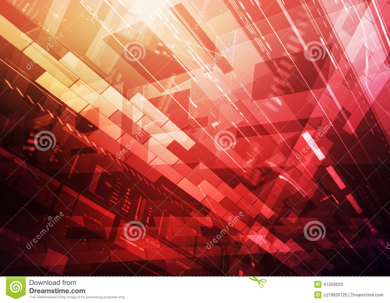 Information Technology red stock illustration. Image of ...