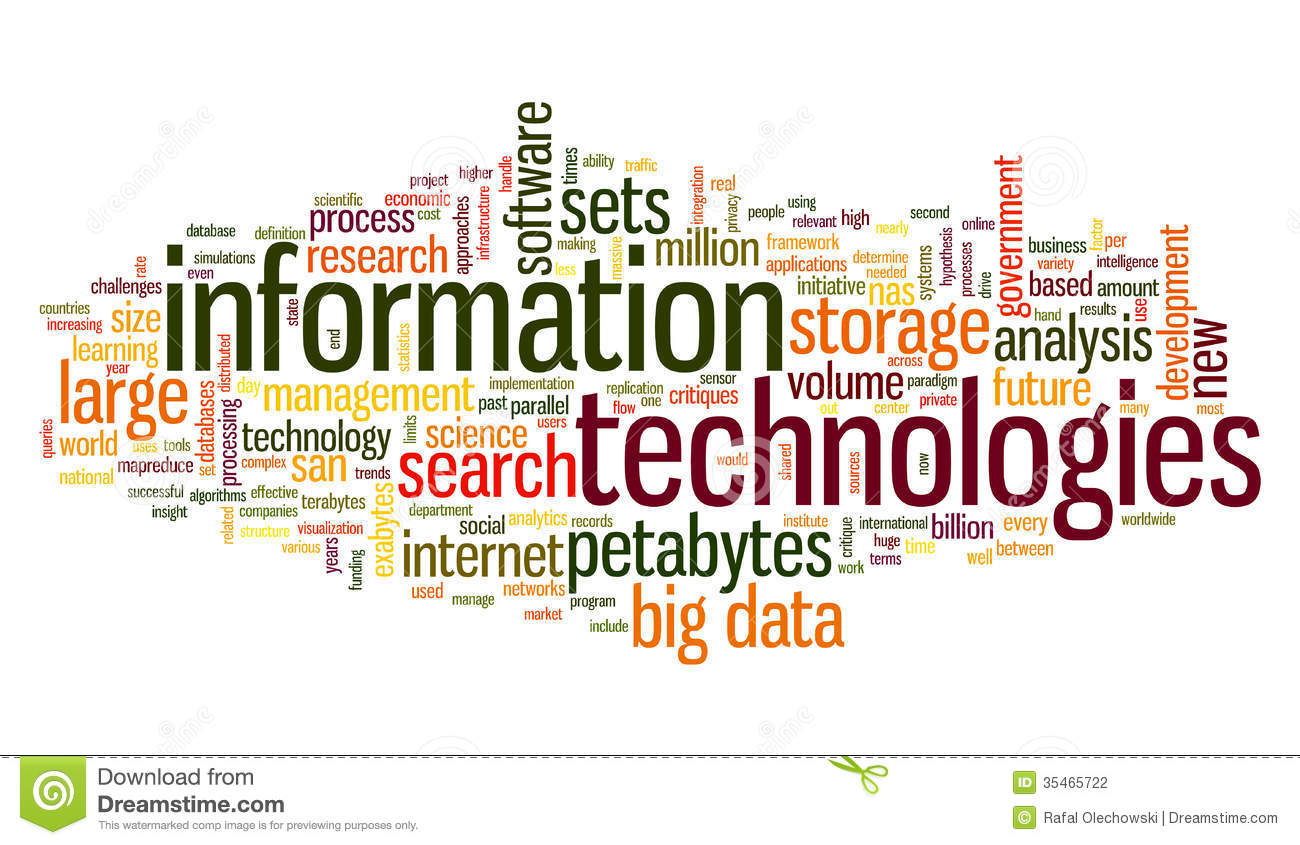 Information Technology In Tag Cloud Stock Illustration
