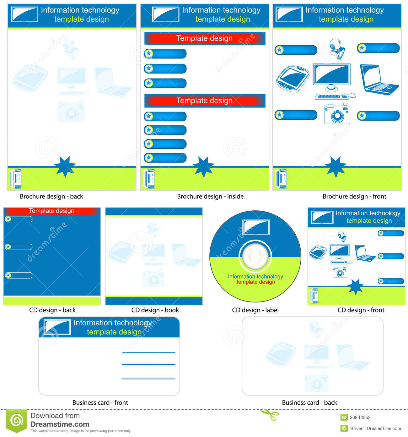 Information Technology Template Stock Vector ...