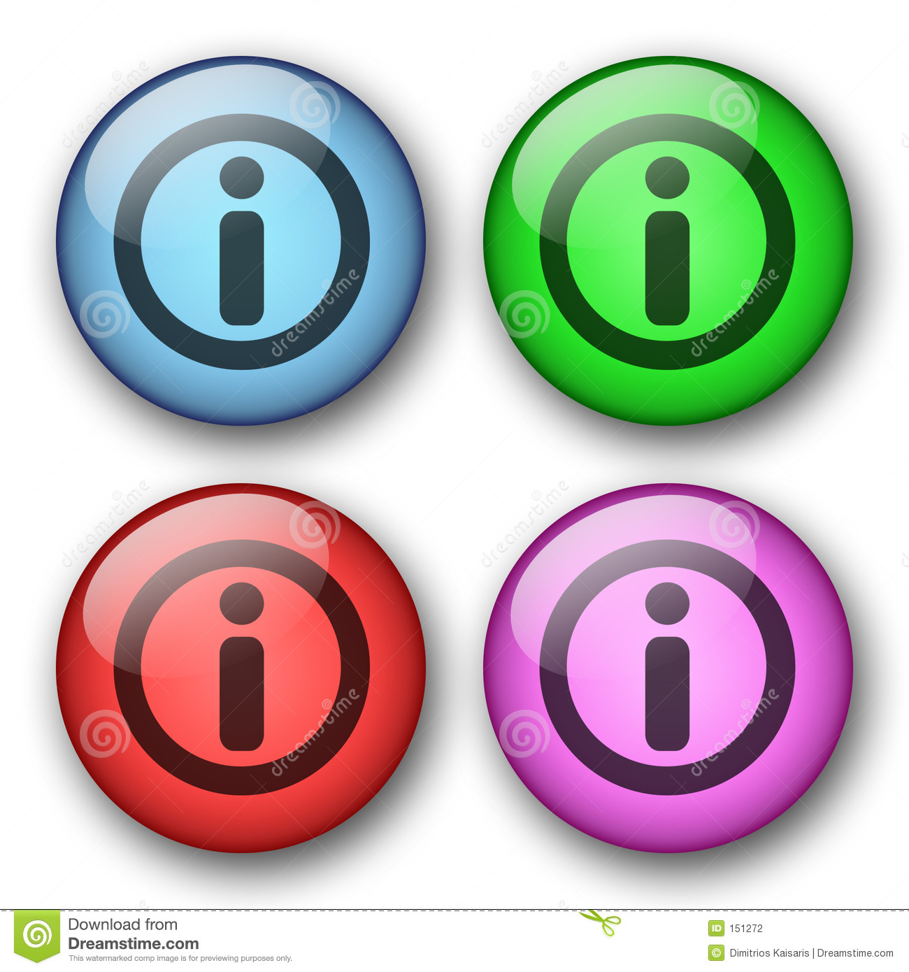 Information web buttons