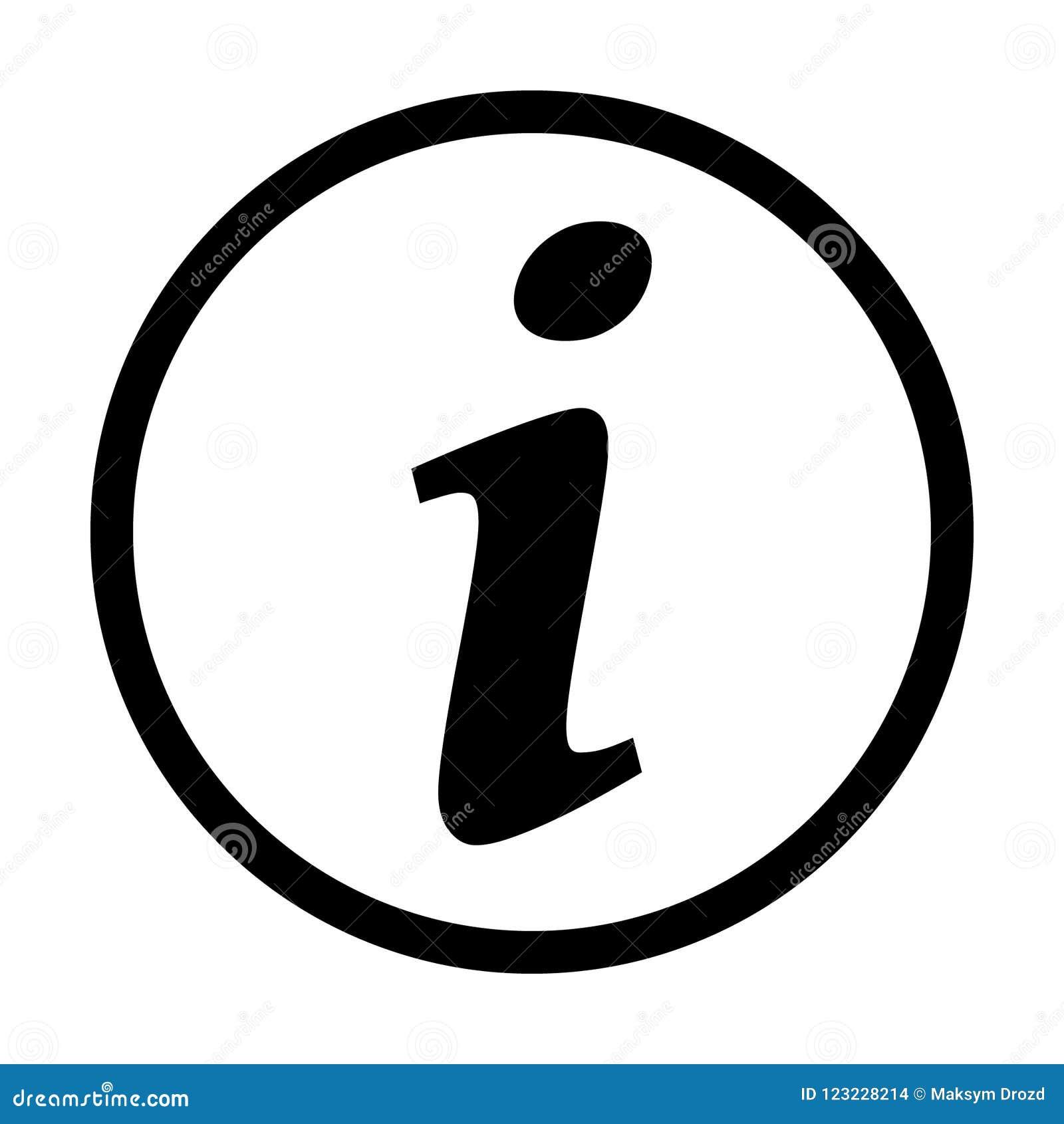 Informationsteckensymbol, informationssymbol