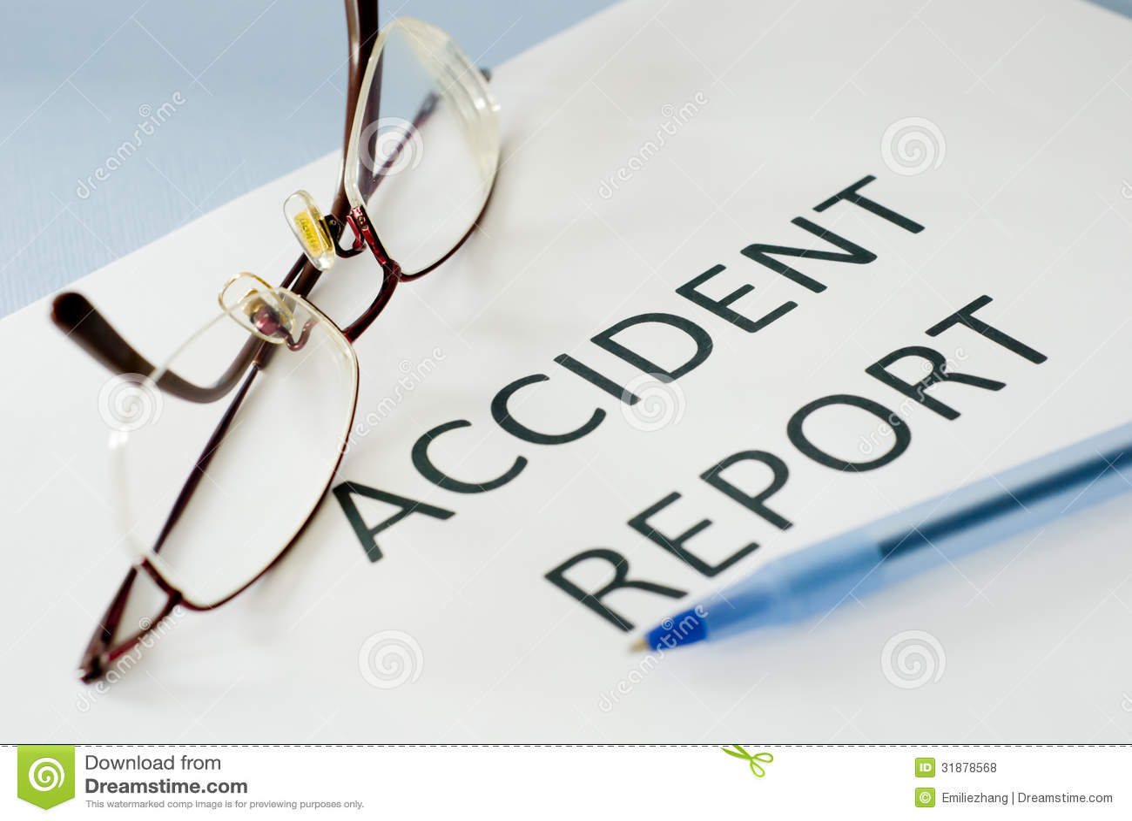 Informe de accidente foto de archivo. Imagen de fichero - 31878568