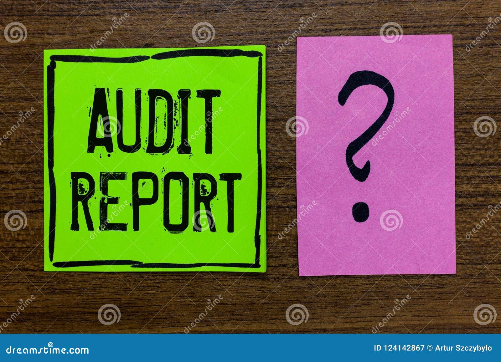 Informe de auditoría del texto de la escritura Concepto que significa una valoración de la situación financiera completa de un Im