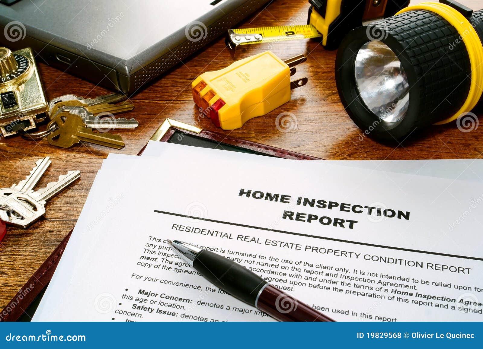 Informe de examen del hogar de las propiedades inmobiliarias