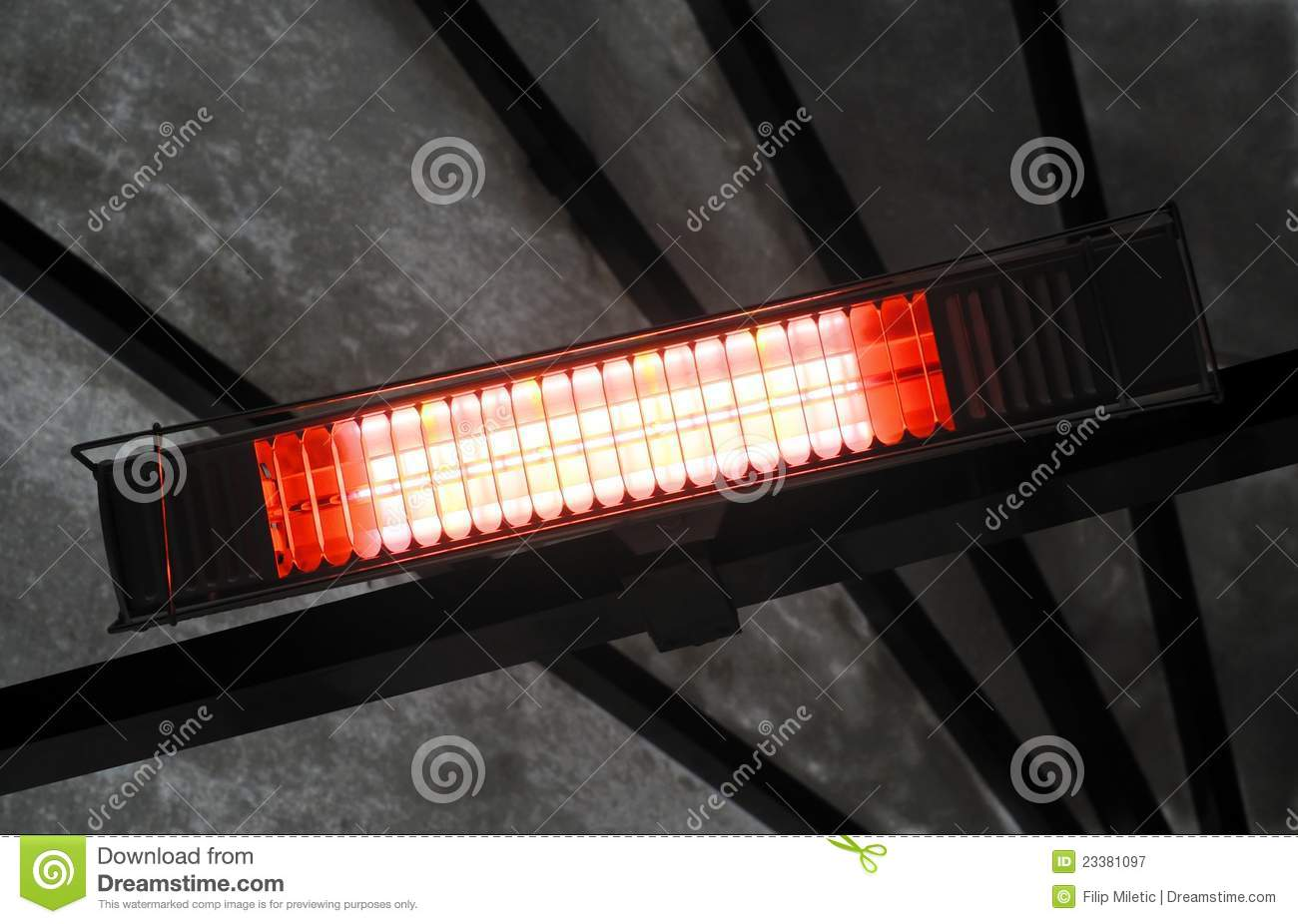 Infrared Heater Stock Image Image Of Grid Electric 23381097