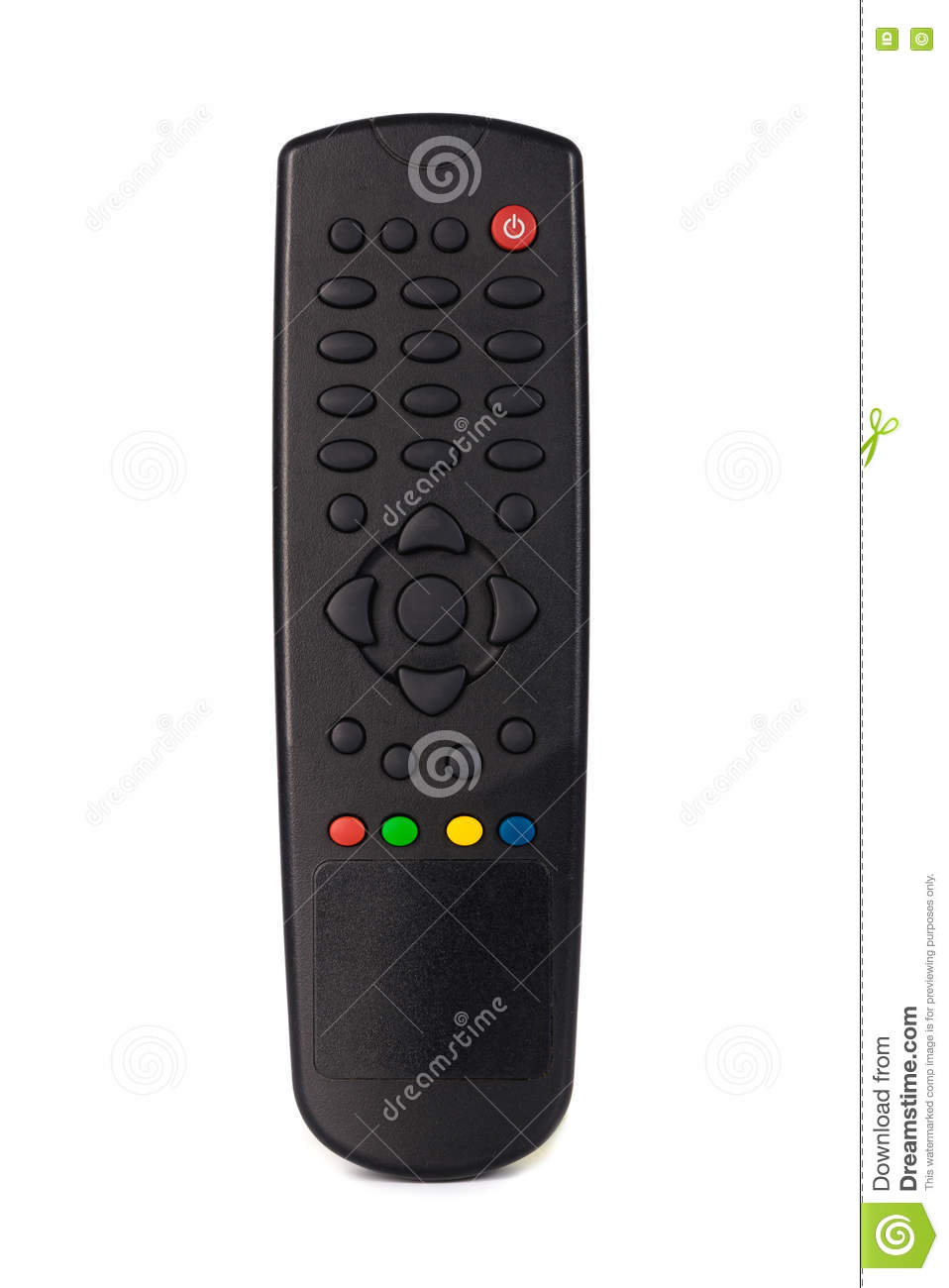 Infrared Remote Control For Tv Satellite Receiver With No Text Ir