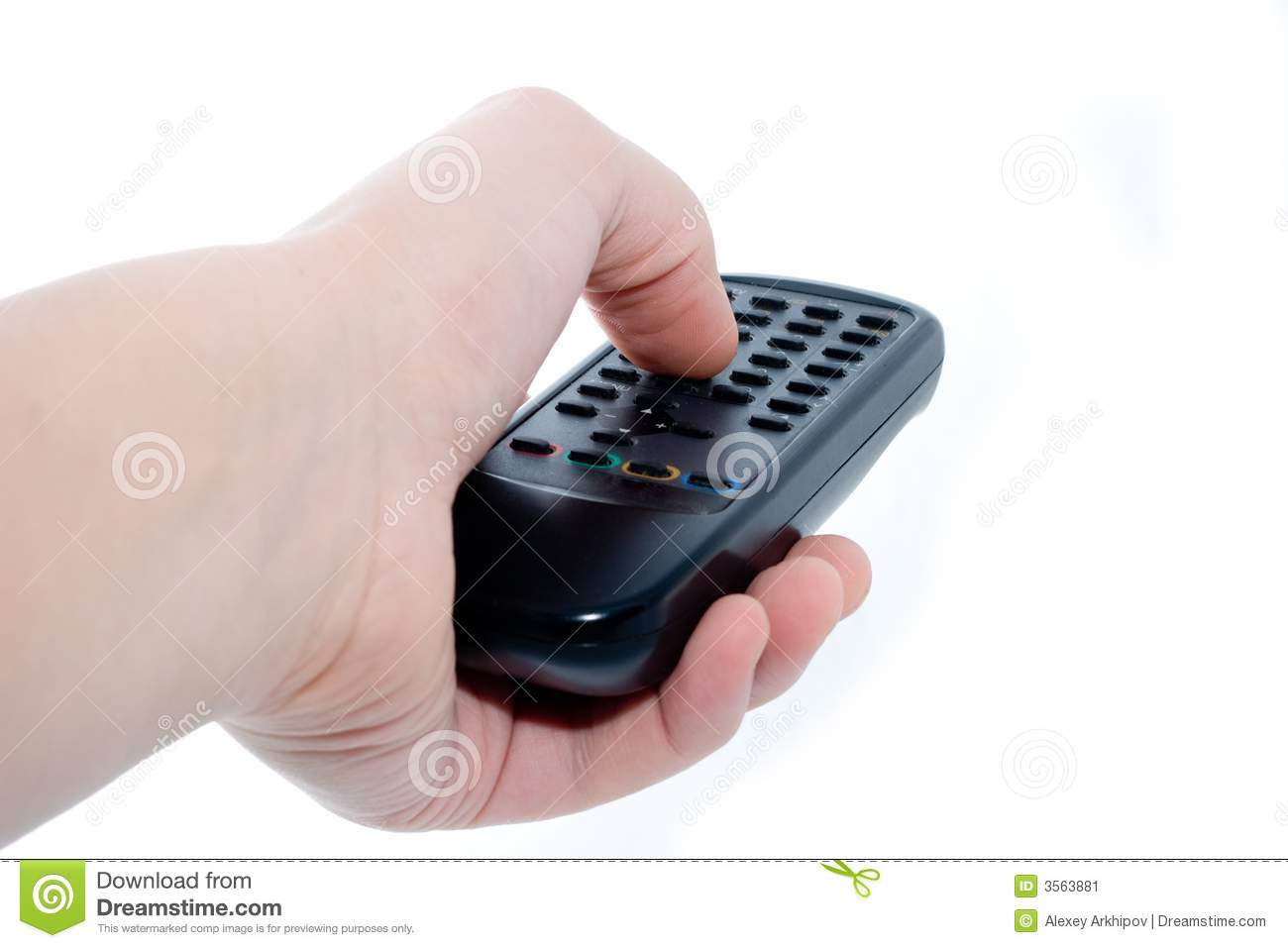Infrared Remote Control Unit Stock Image Of