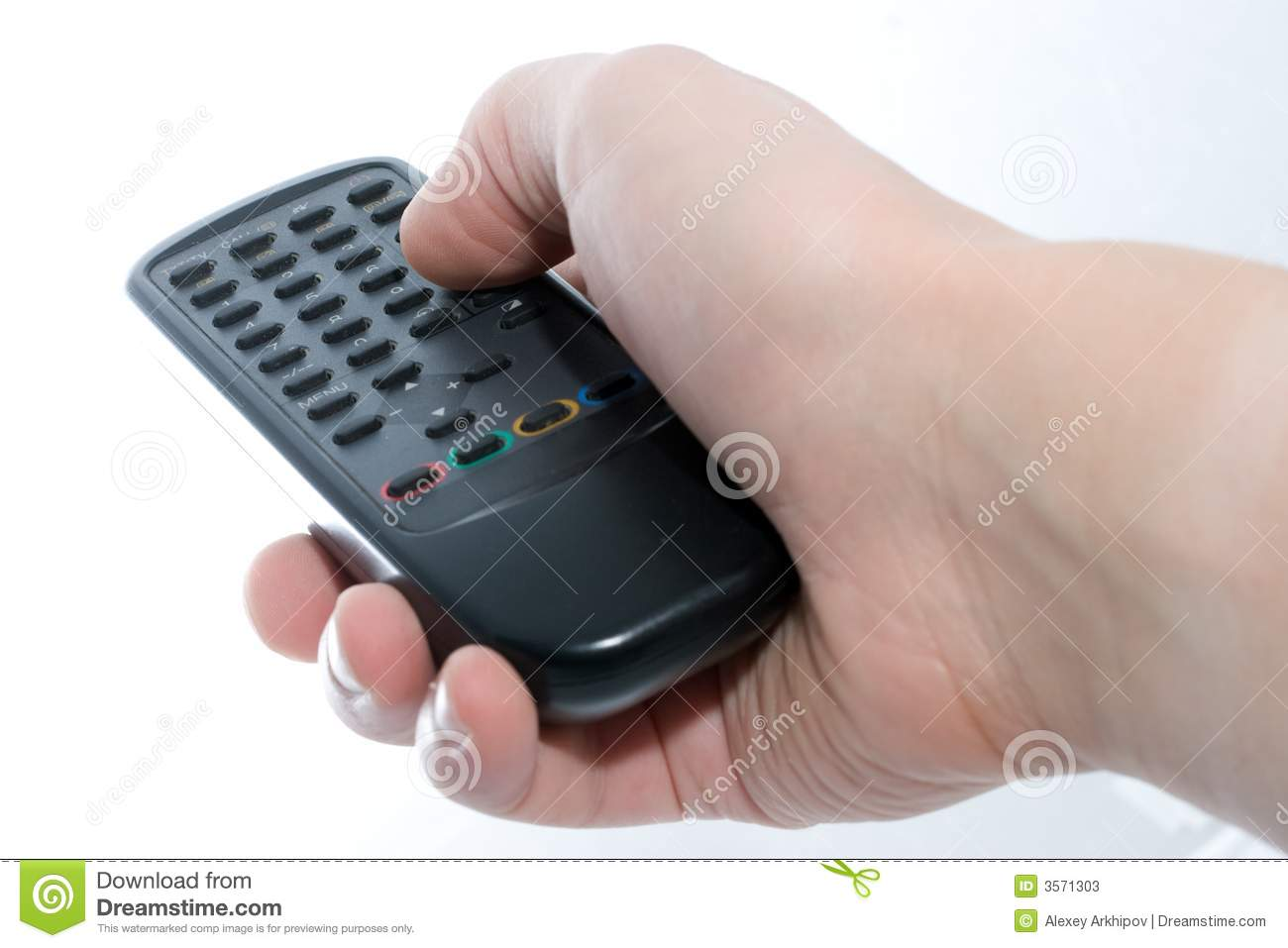 Infrared Remote Control Unit I Stock Image Of Hand Black In On A White Background