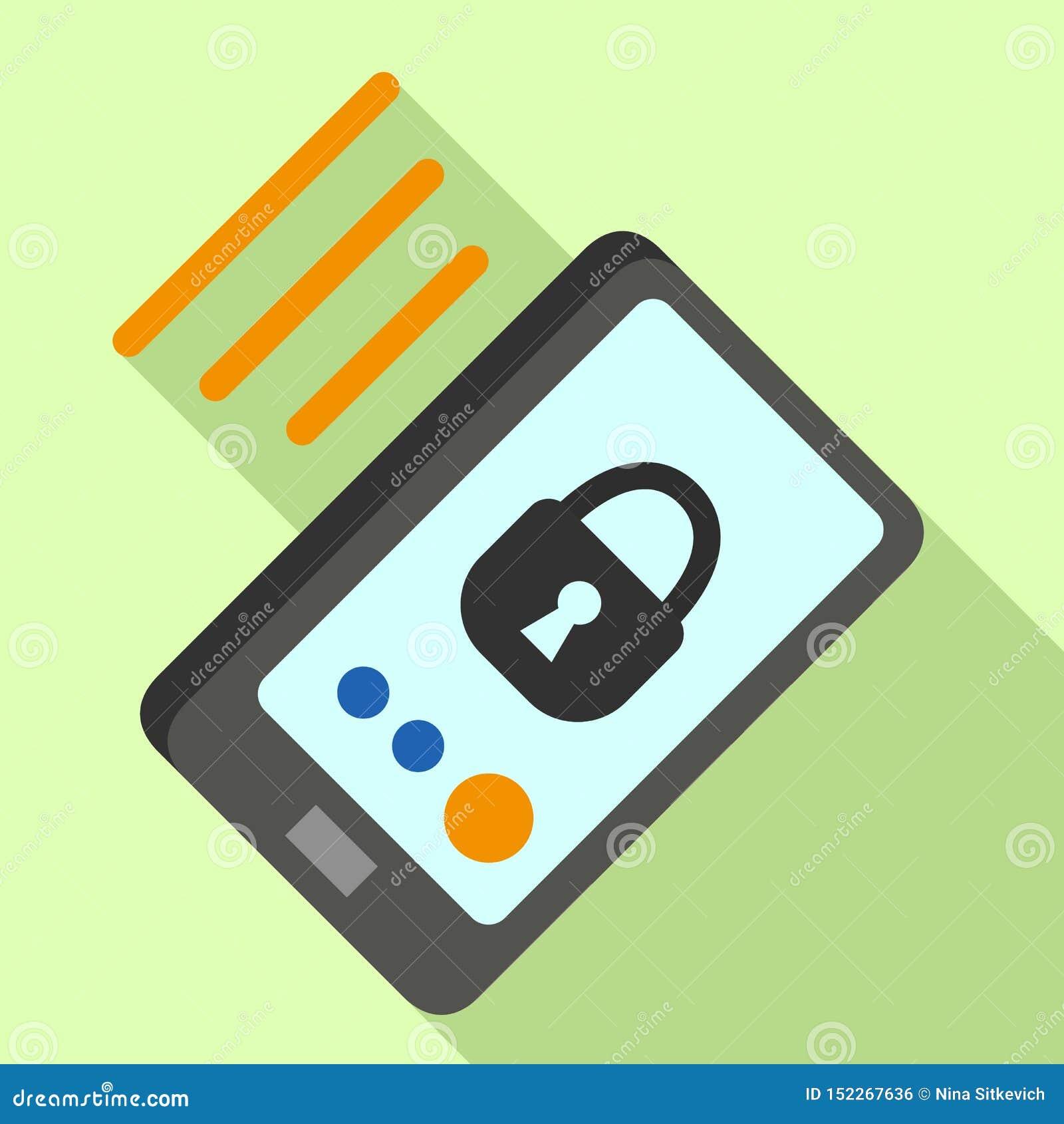 Infrarood de veiligheidspictogram van Smartphone, vlakke stijl