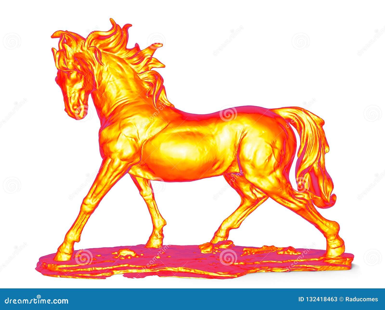 Infrarood paardbeeldje