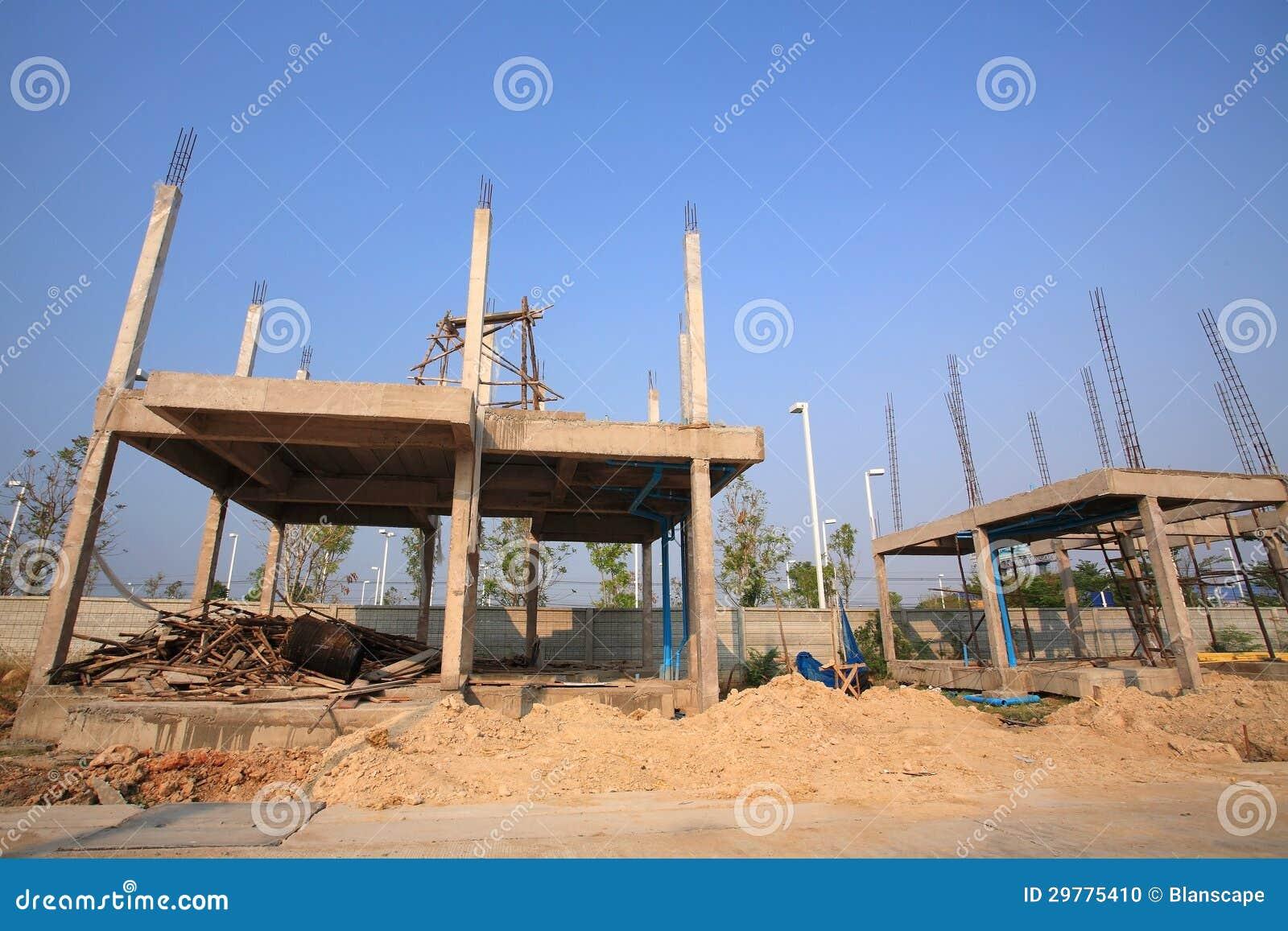 Infrastructure de b timent en construction photo stock for Batiment en construction