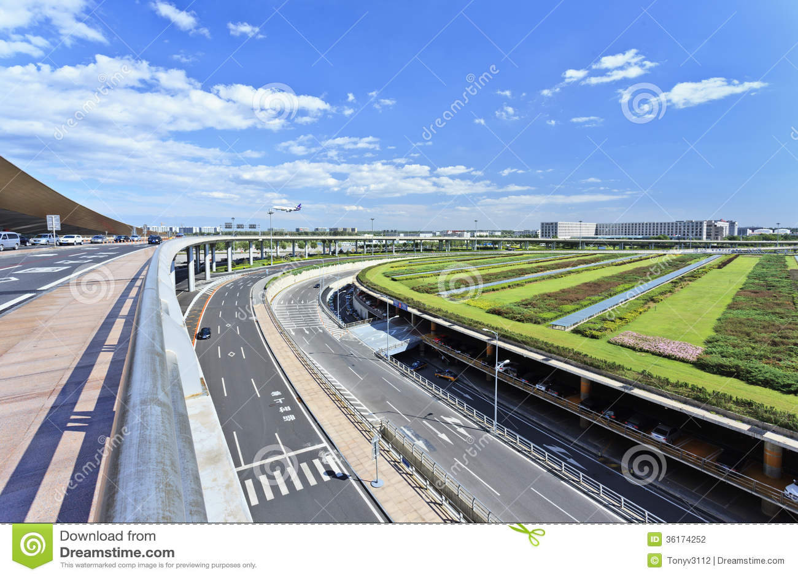 Infrastructuur rond de Hoofdluchthaven van Peking.