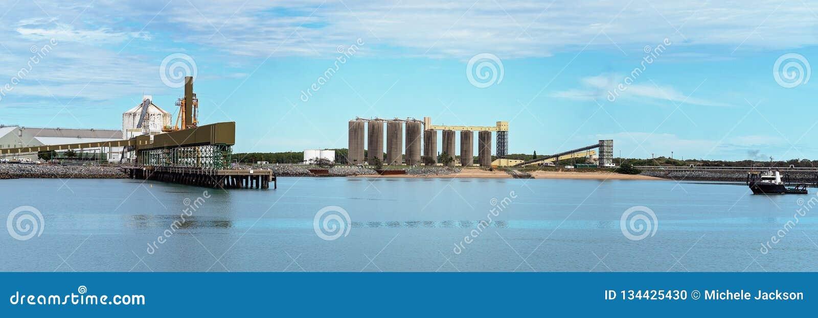 Infrastructuur van Mijnbouw en de Landbouwhaven van de Goederenuitvoer