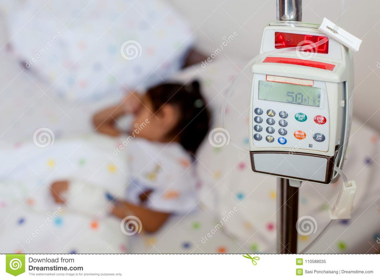 Why does a child pump with blood
