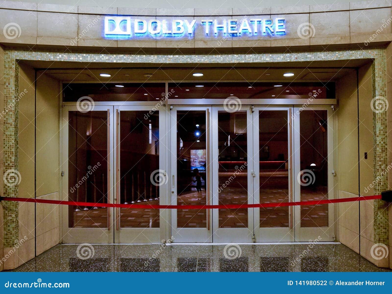 Ingång av den dolby teatern i hollywood