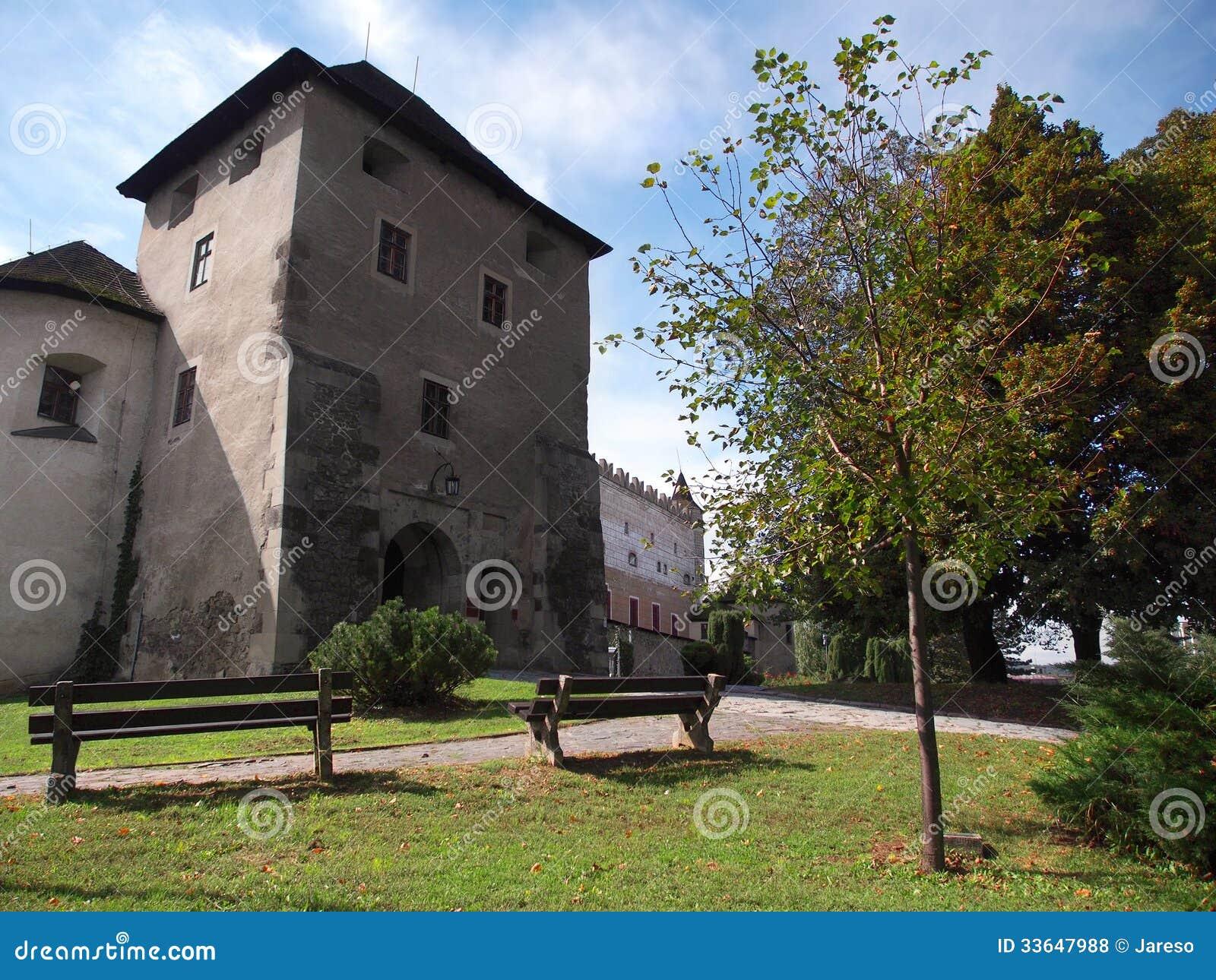 Ingång till den Zvolen slotten, Slovakien