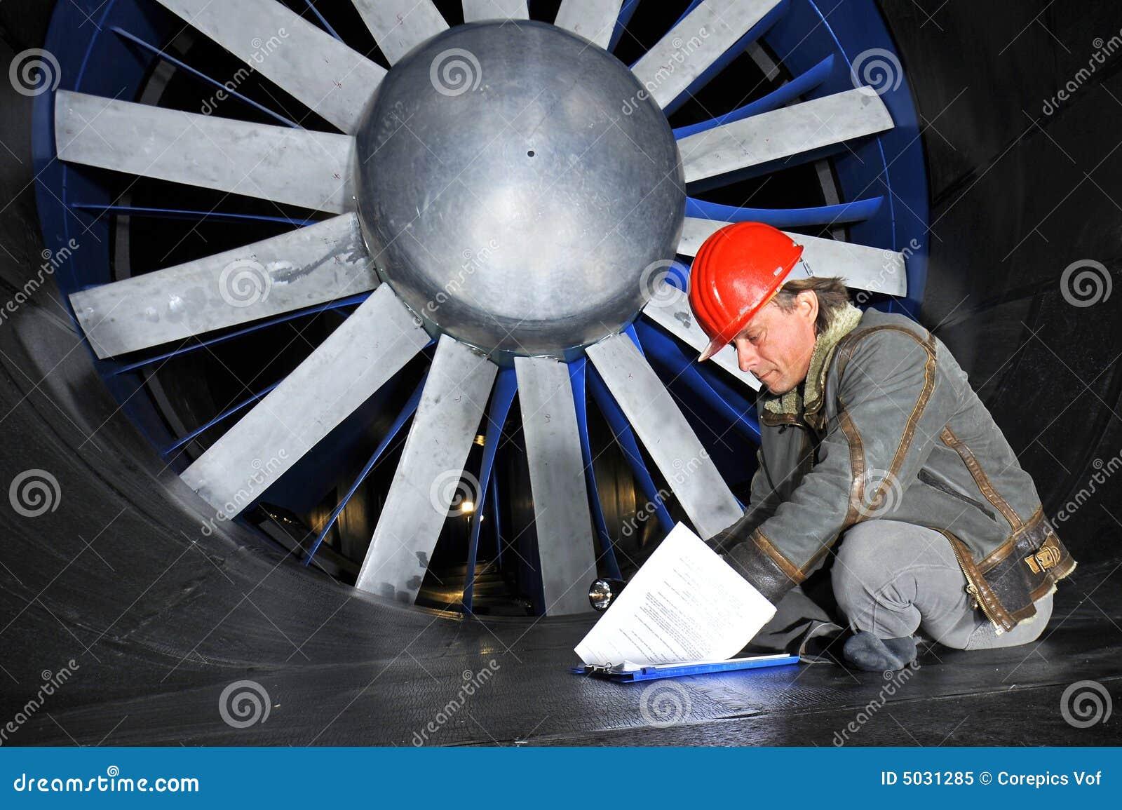Ingénieur de Windtunnel