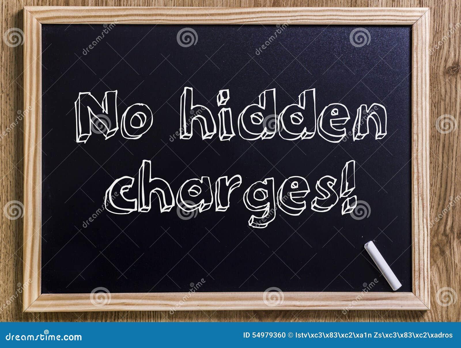 Inga gömda laddningar!