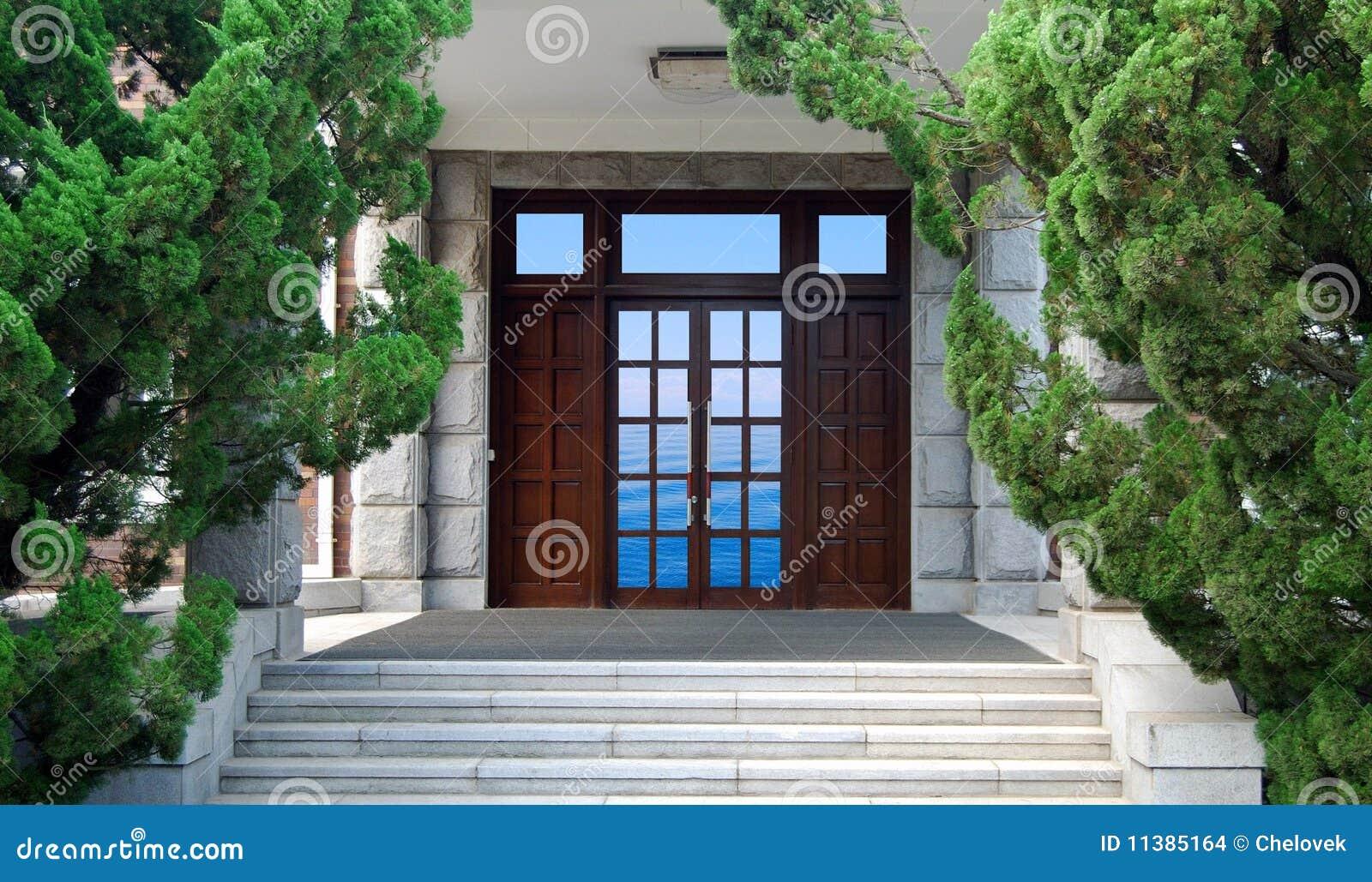 Ingang stock foto afbeelding bestaande uit gesloten 11385164 - Huis ingang ...