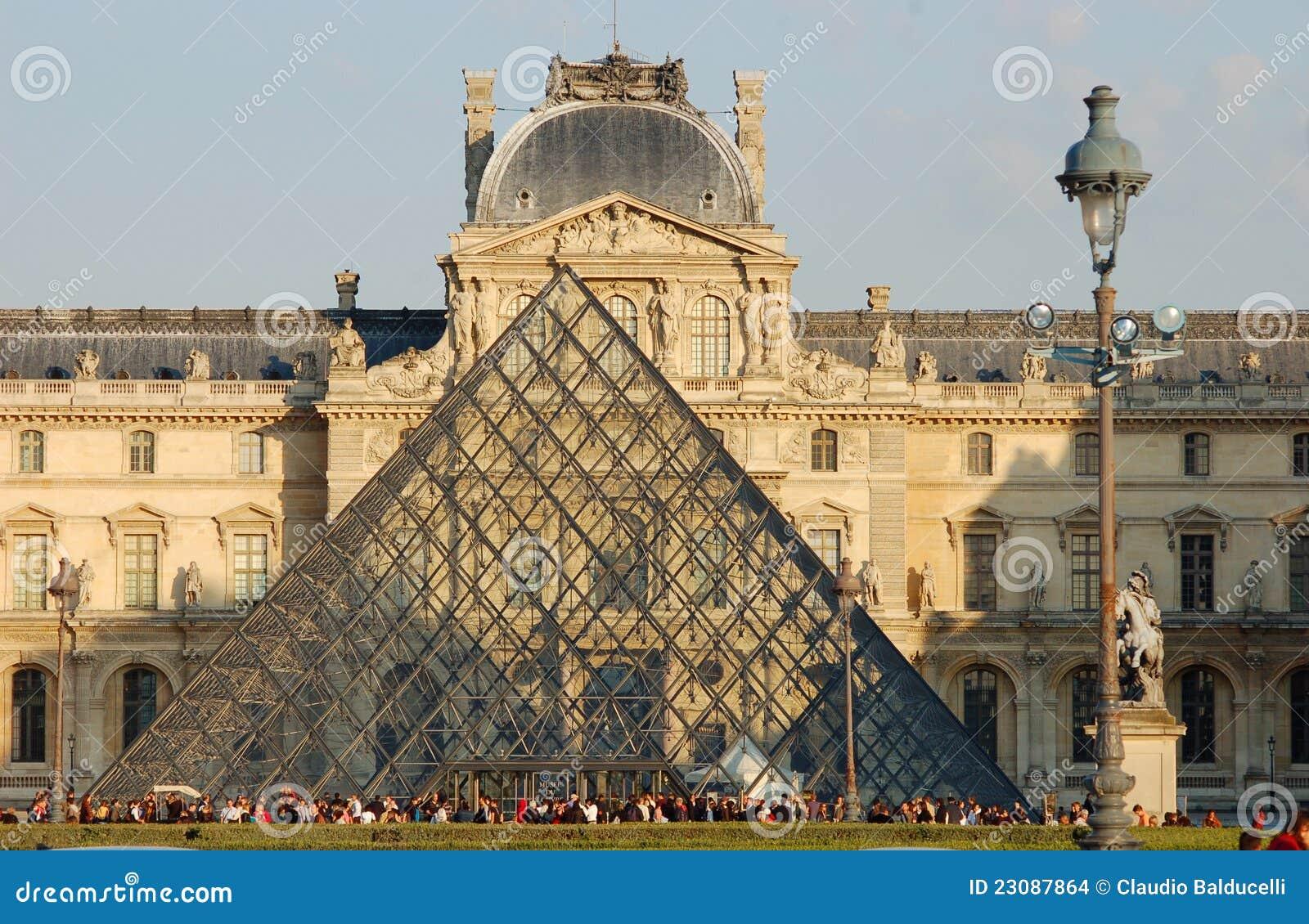 Ingang aan het museum van het louvre in parijs redactionele stock afbeelding afbeelding 23087864 - Ingang van het hedendaagse huis ...