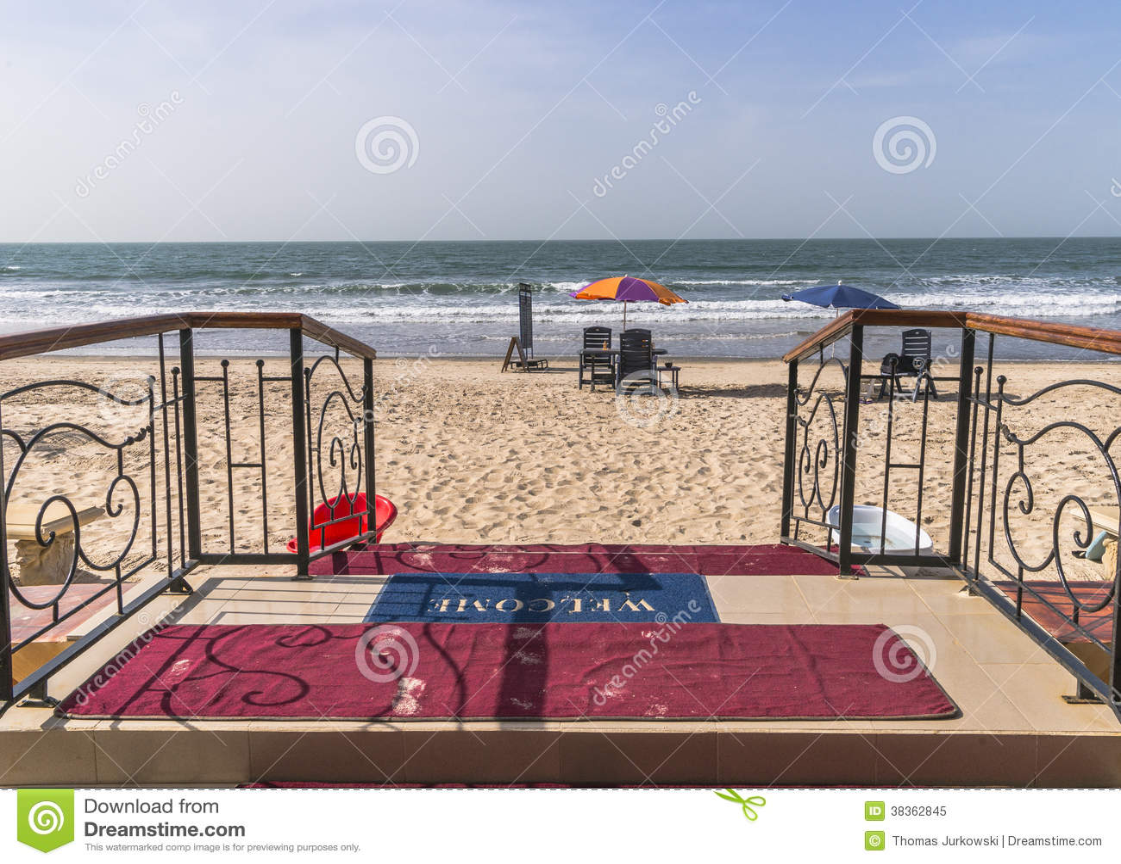 Ingang aan het strand