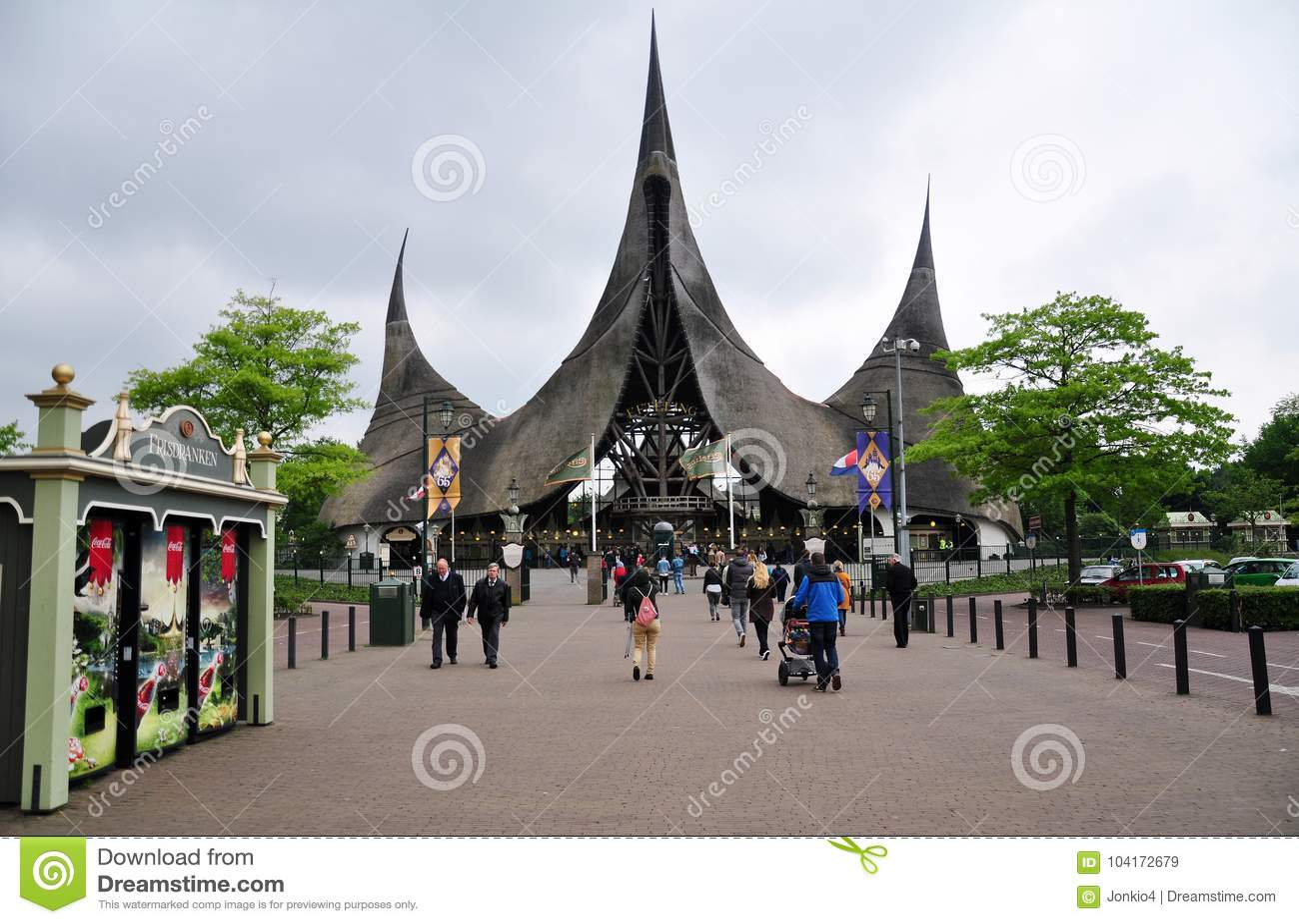 Ingang van Efteling, themapark, Nederland