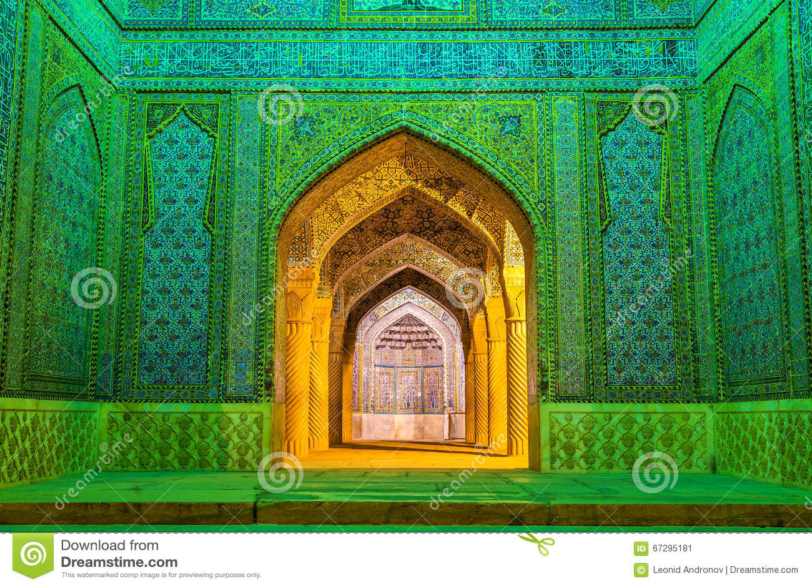 Ingang van Vakil-Moskee in Shiraz, Iran