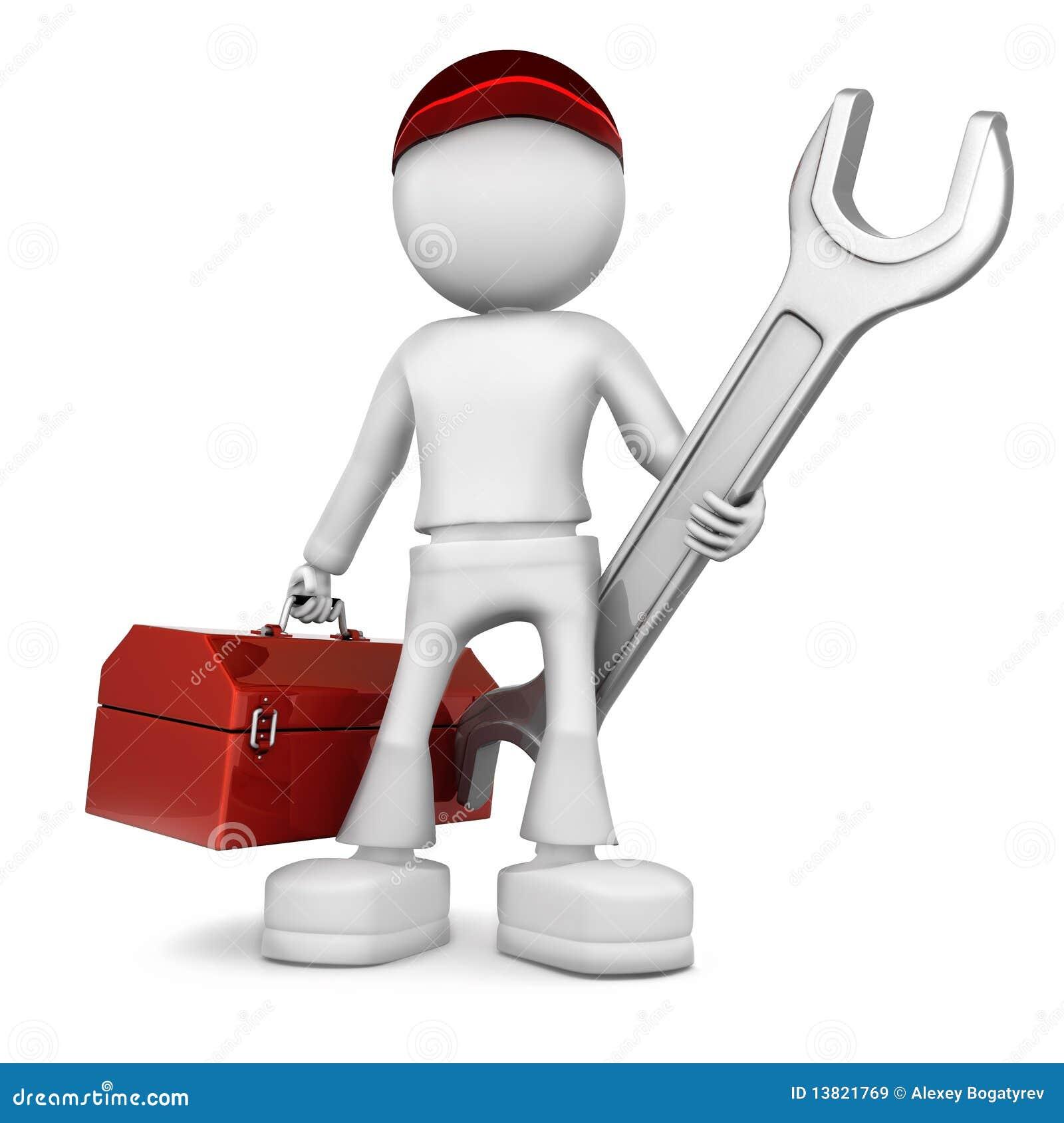 Ingegnere meccanico illustrazione di stock illustrazione for Programmi 3d free