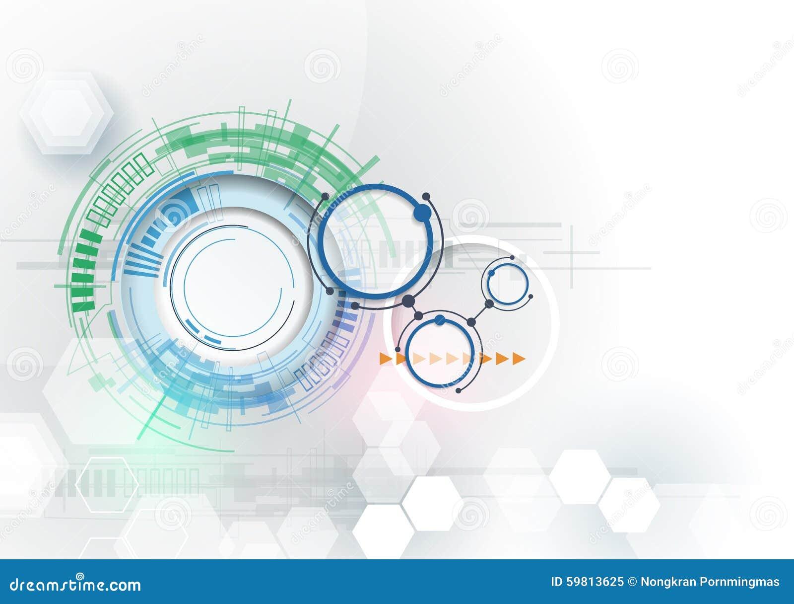 Ingegneria di tecnologia digitale di Ciao-tecnologia dell illustrazione di vettore Concetto di tecnologia dell innovazione e di i