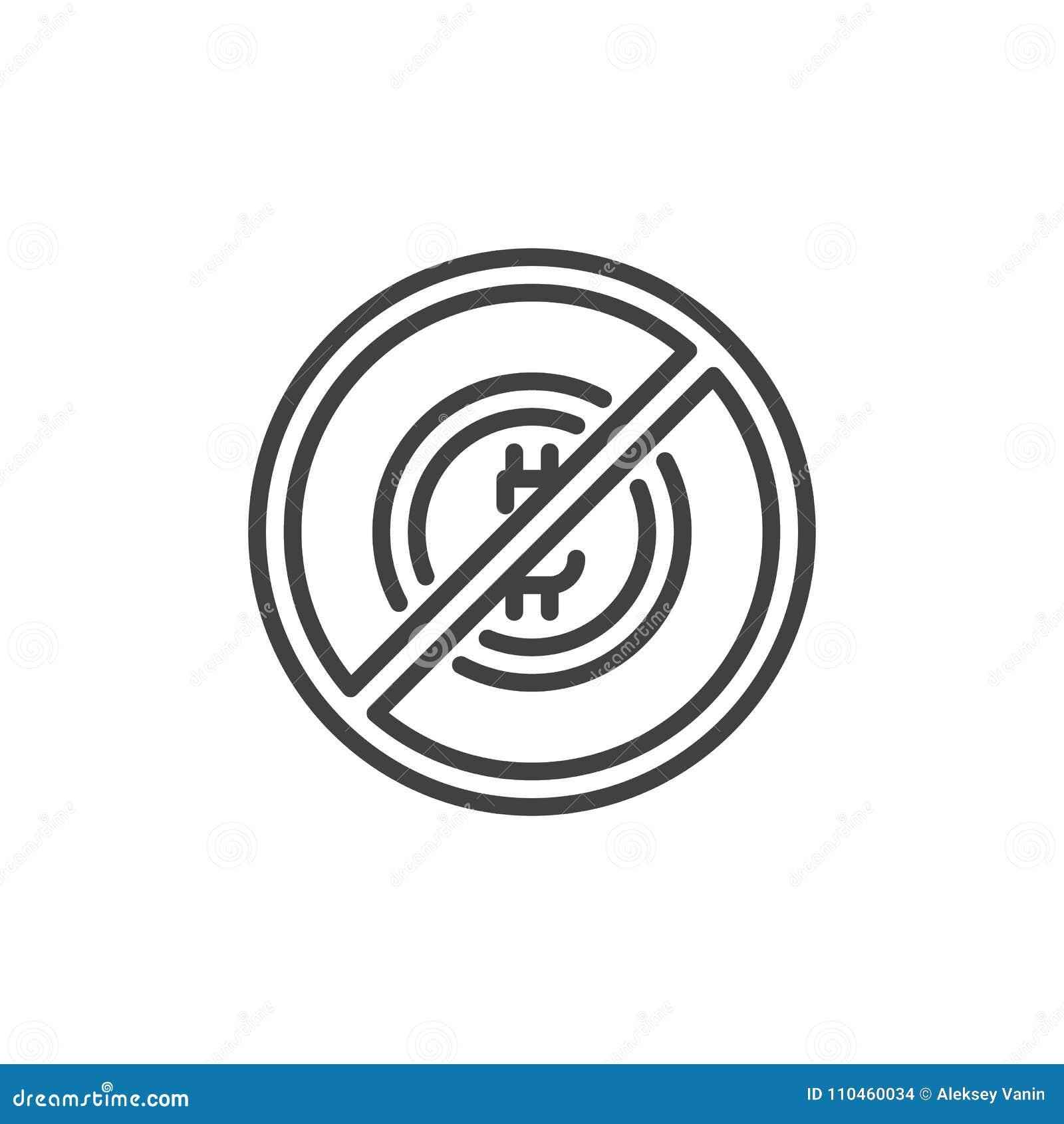 Ingen bitcoin- och blockchainöversiktssymbol
