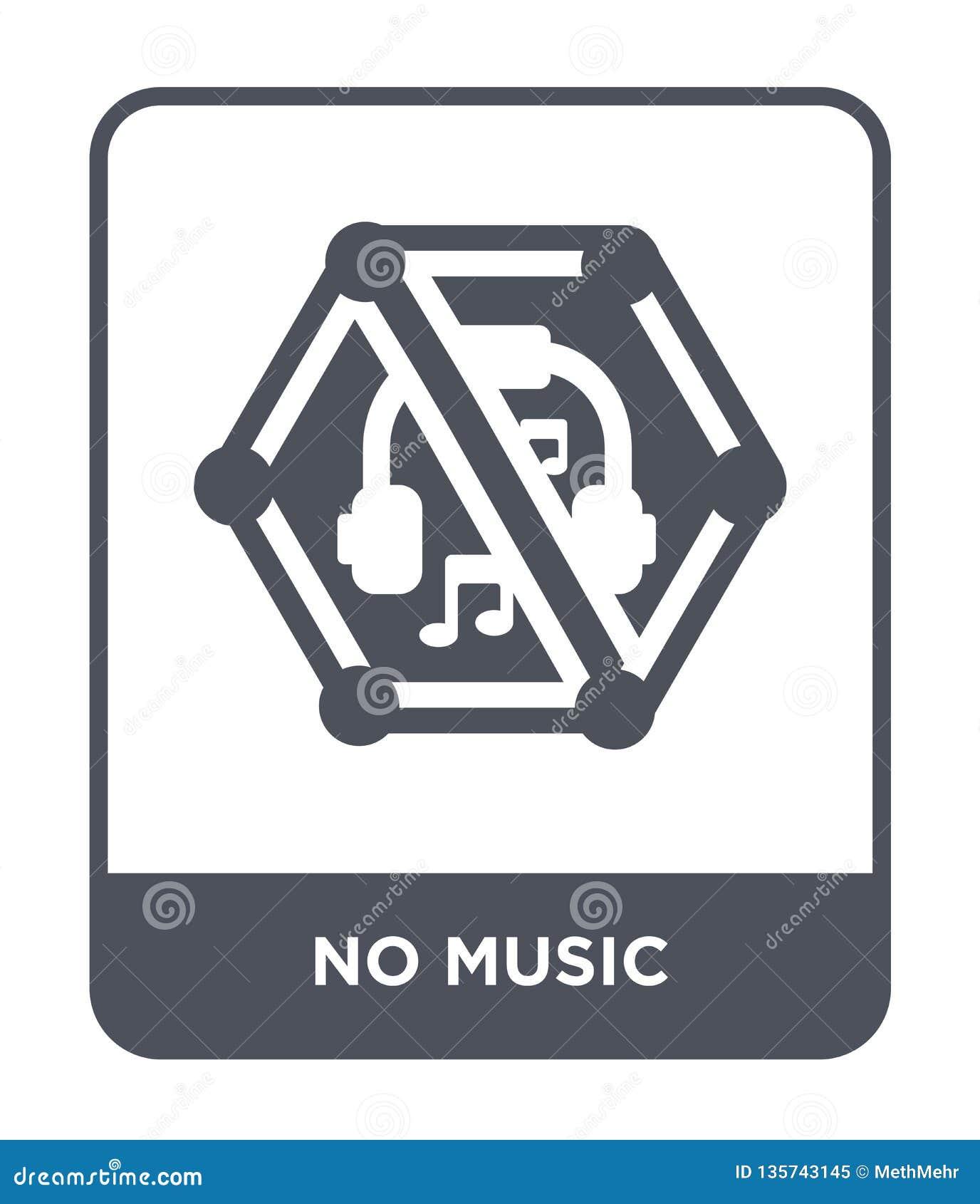 Ingen musiksymbol i moderiktig designstil ingen musiksymbol som isoleras på vit bakgrund enkel och modern lägenhet för ingen musi