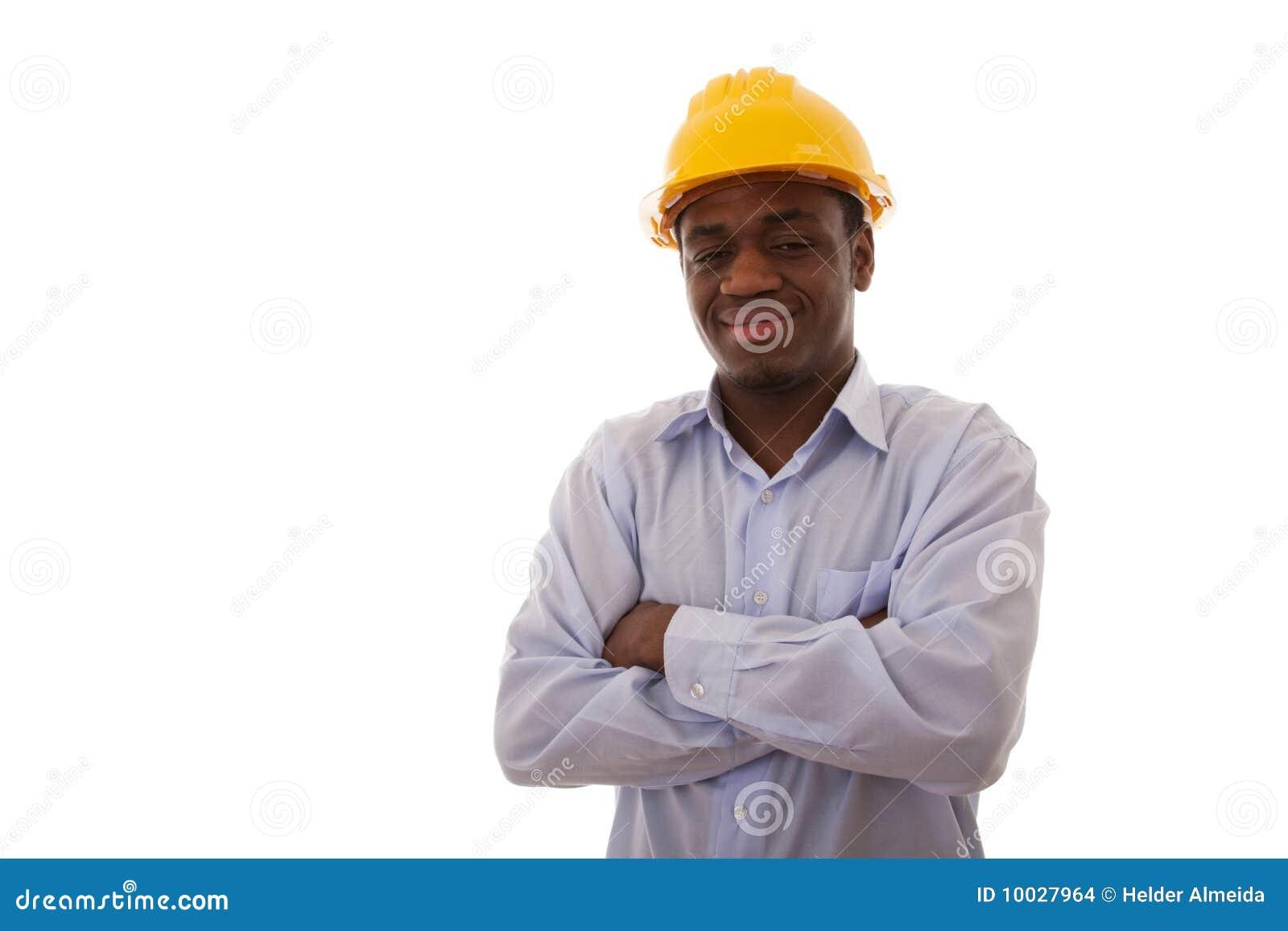 Ingeniero africano confidente