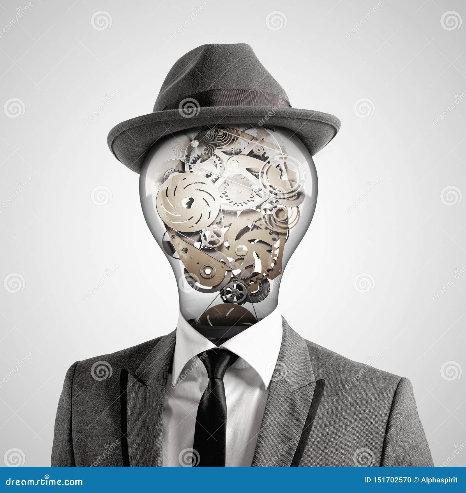 Ingenious head. 3D Rendering