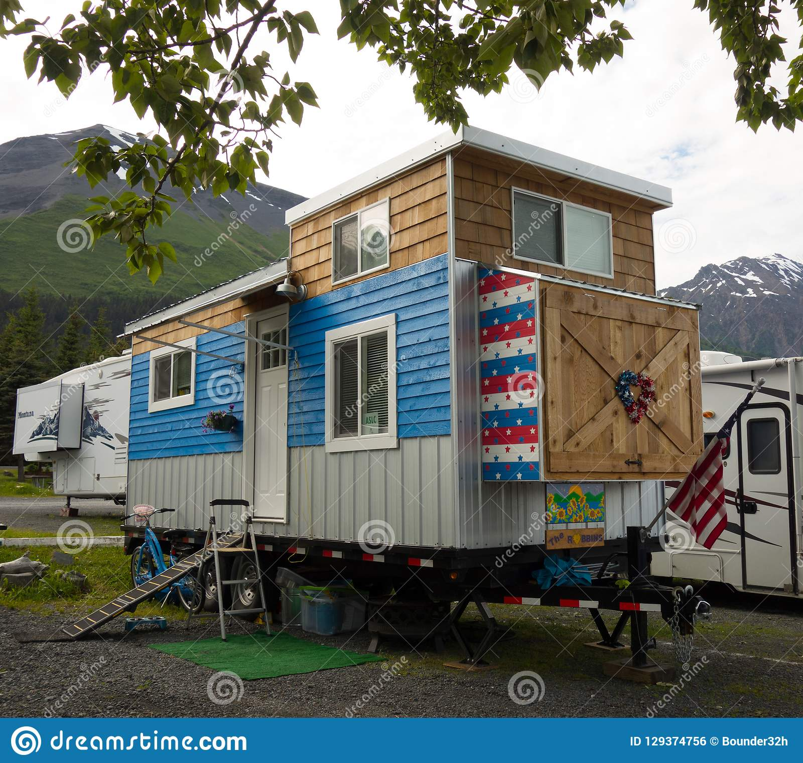 An Incredible Tiny House On Wheels As Seen At A Campground In