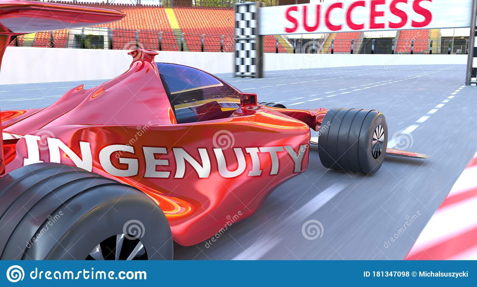 Ingenuity And Success - Pictured As Word Ingenuity And A ...