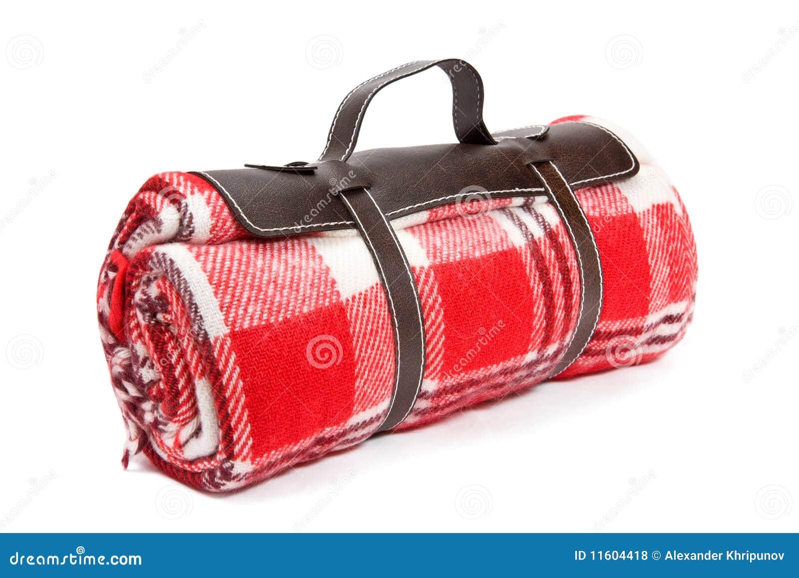Ingepakte deken voor de picknick van de zondag
