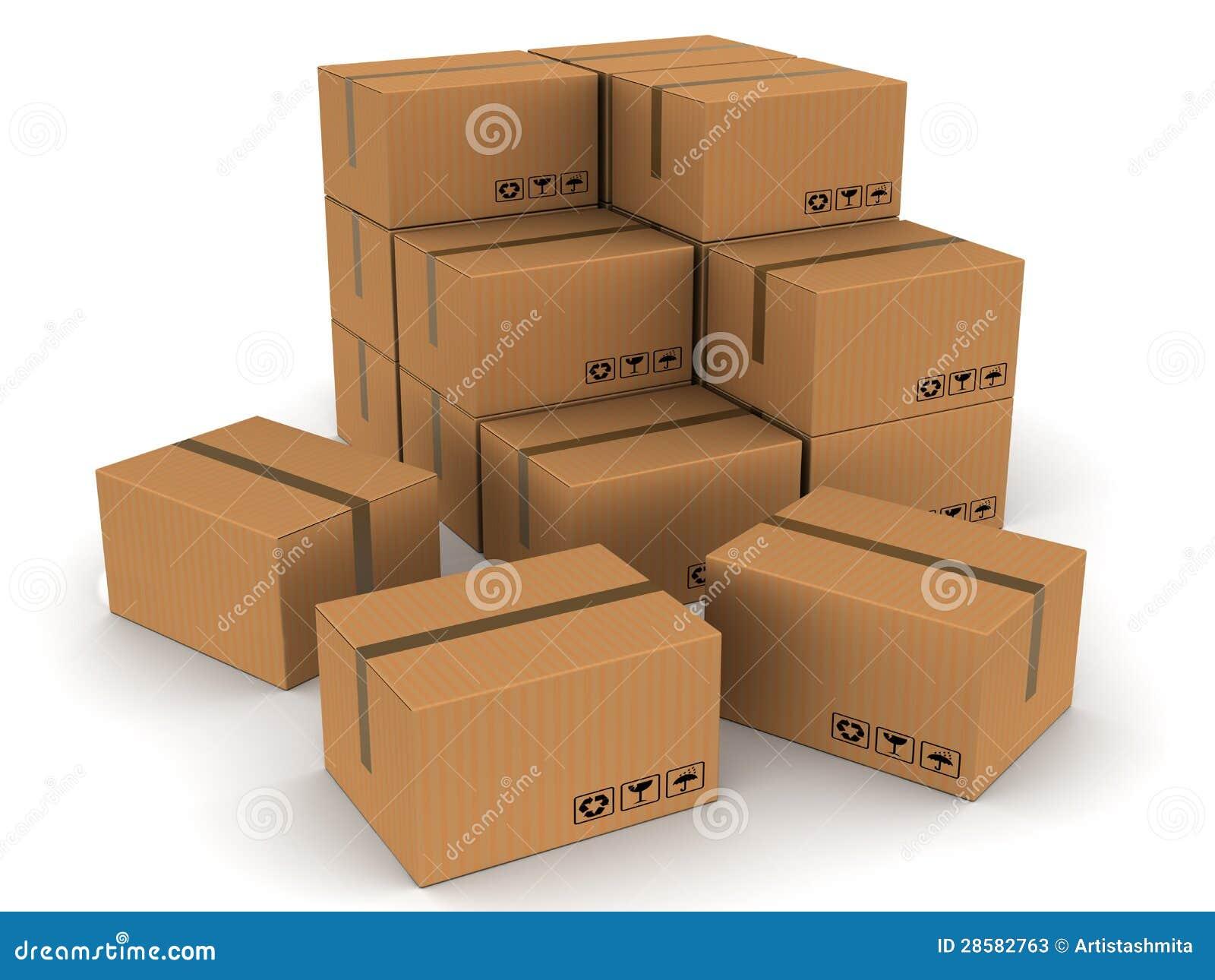 Ingepakte dozenkartons