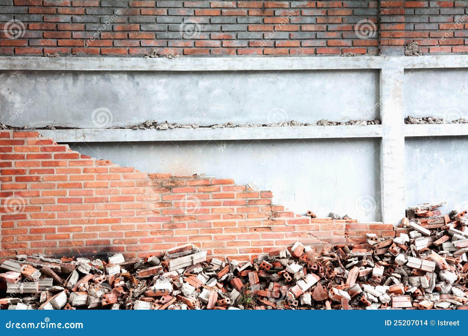 Ingestort Op De Muur Stock Afbeeldingen - Beeld: 25207014