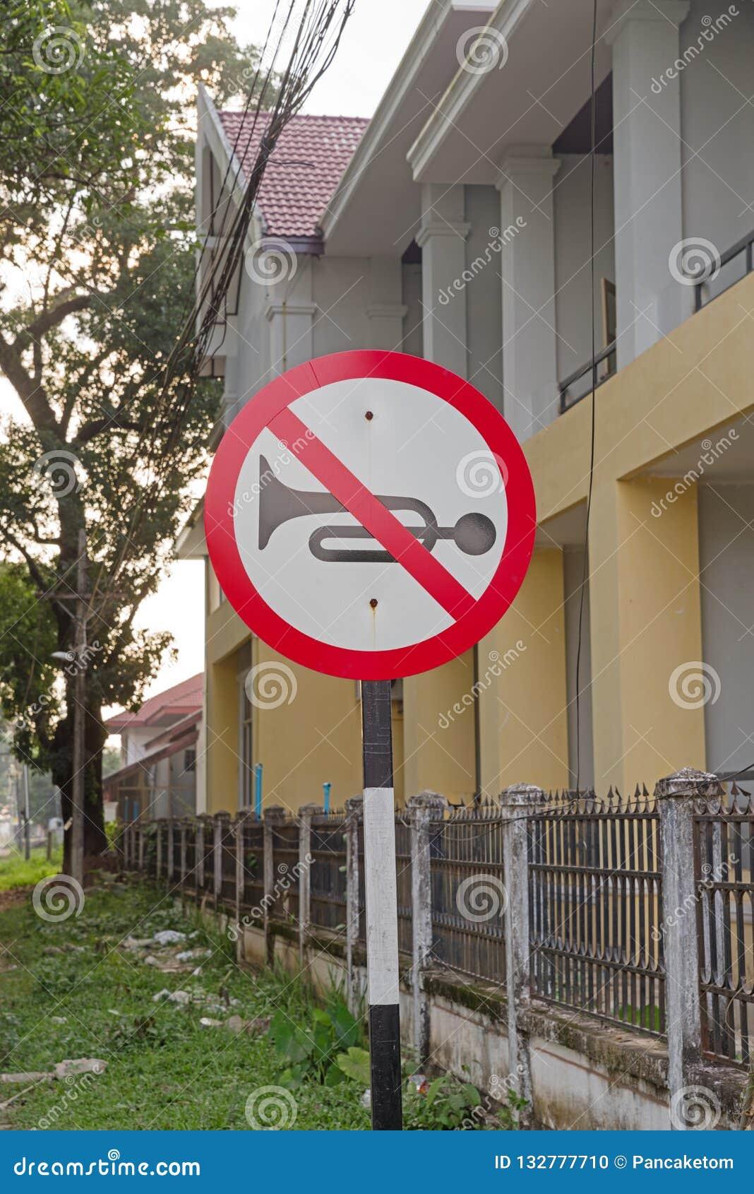 Inget horn- tecken