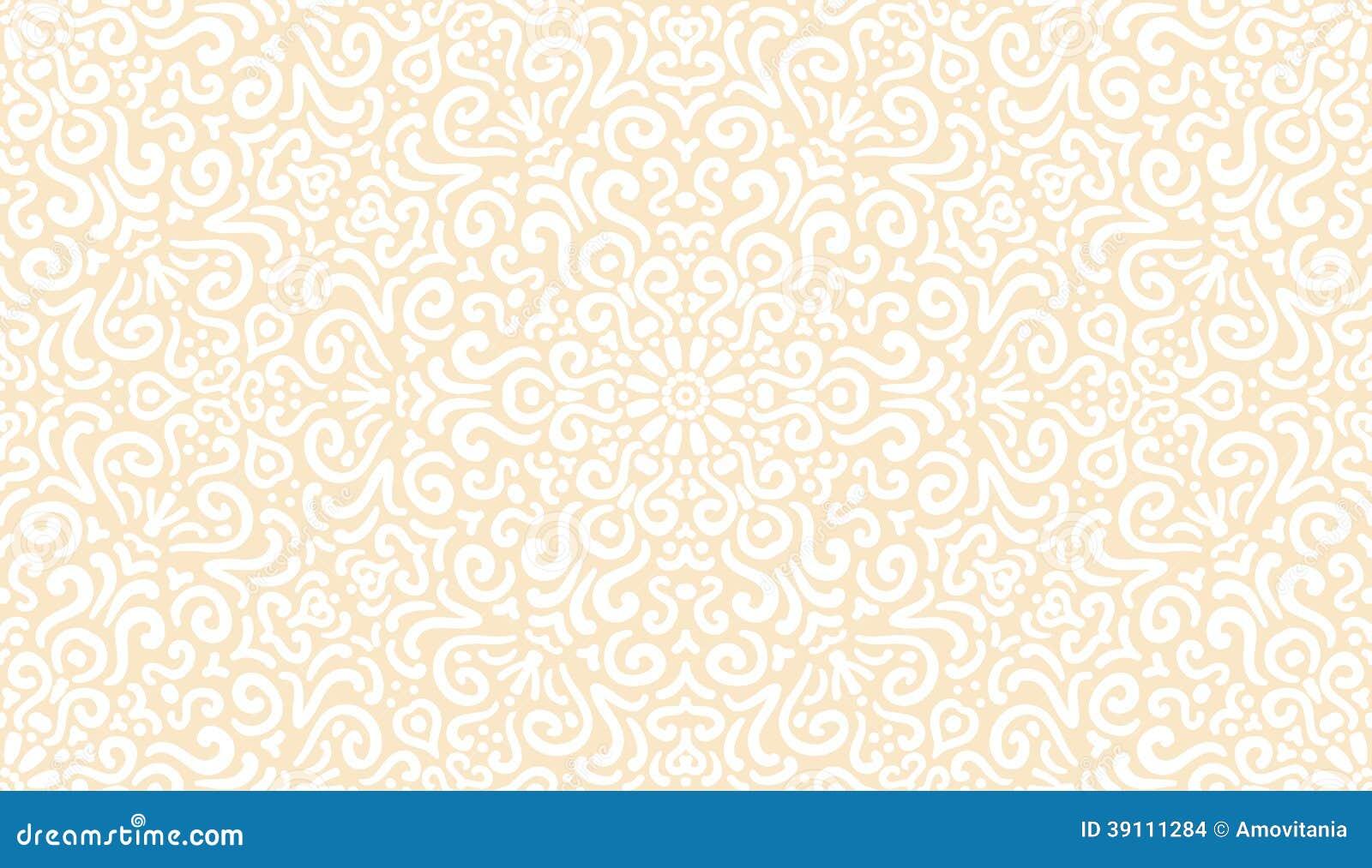 Ingewikkeld fantasie wit naadloos patroon