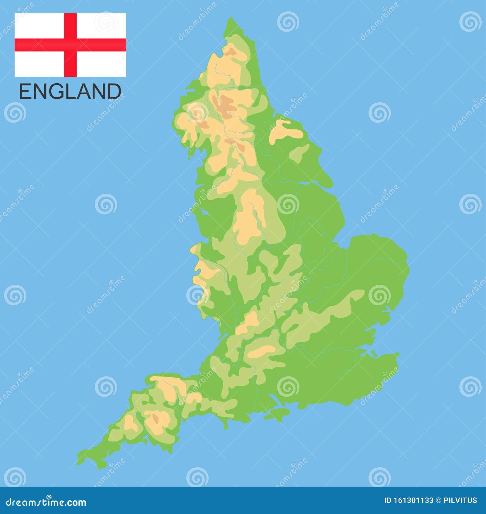 Inghilterra Fisica Cartina.Inghilterra Mappa Fisica Dettagliata Dell Inghilterra Colorata In Base All Elevazione Con Fiumi Laghi Montagne Mappa Vettorial Illustrazione Vettoriale Illustrazione Di Paese Nave 161301133
