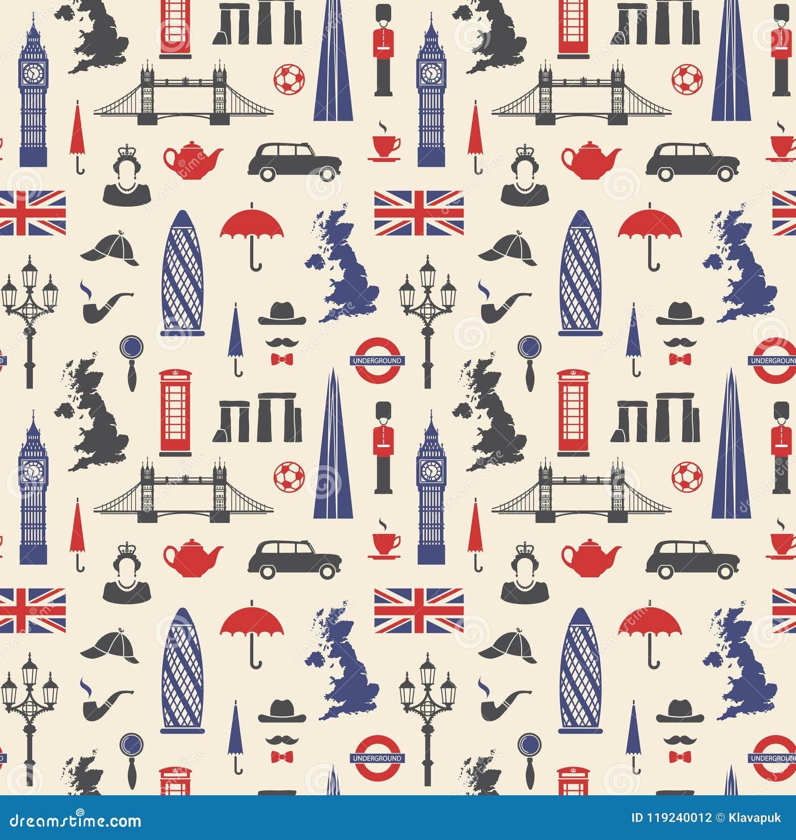 Inglaterra, Londres, Reino Unido Fondo inconsútil
