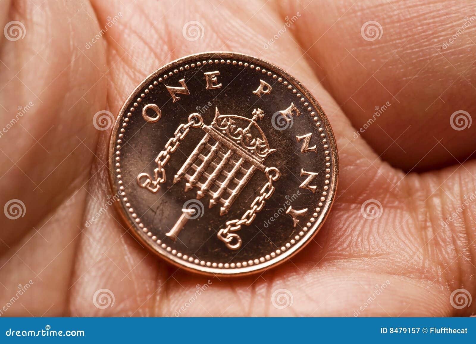 Ingleses uma moeda da moeda de um centavo